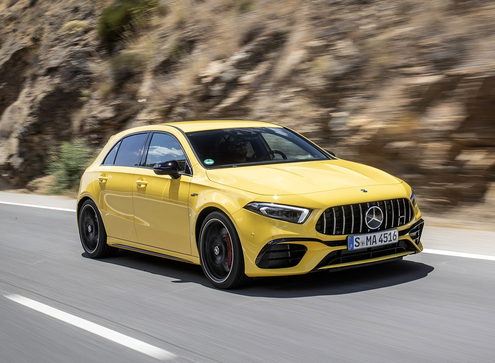 2020 Mercedes-AMG A 45 S 4MATIC+ (Color: Sun Yellow) Front Three-Quarter Wallpapers (4)