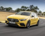 2020 Mercedes-AMG A 45 S 4MATIC+ (Color: Sun Yellow) Front Three-Quarter Wallpapers 150x120 (5)