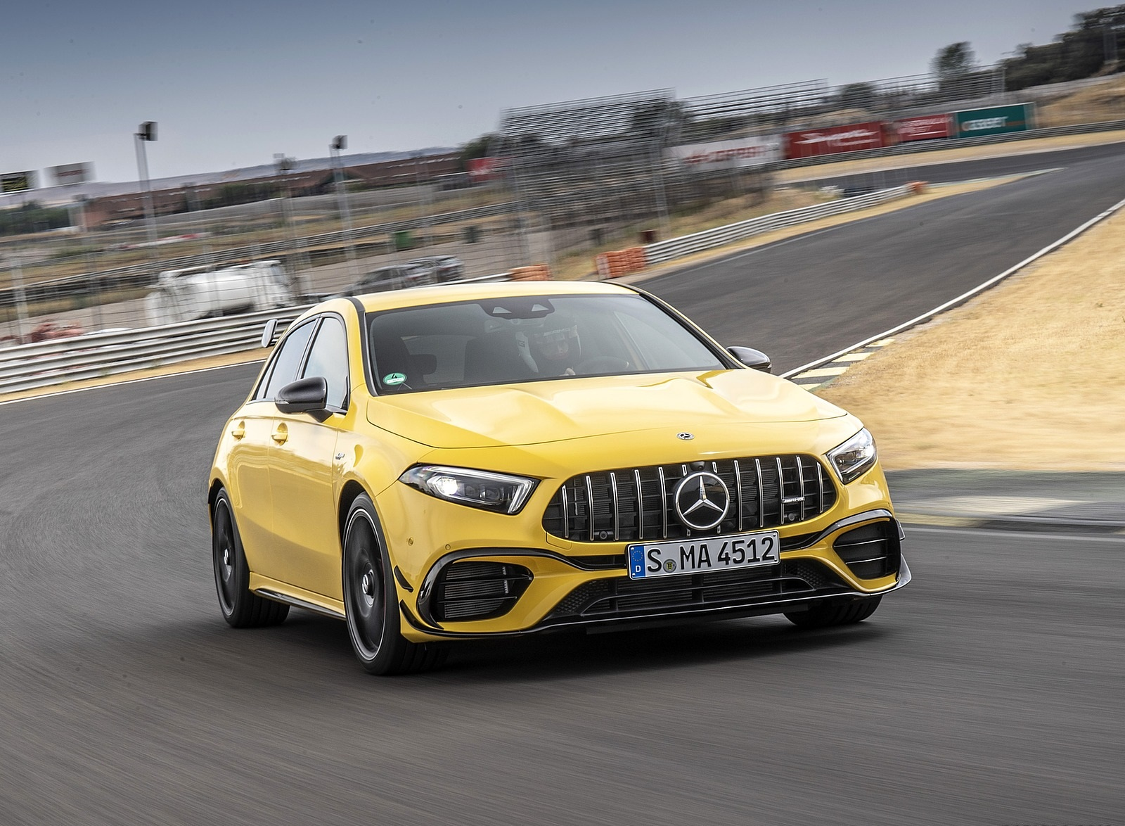 2020 Mercedes-AMG A 45 S 4MATIC+ (Color: Sun Yellow) Front Wallpapers (1)