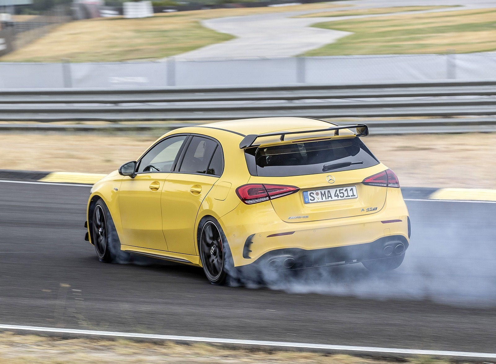 2020 Mercedes-AMG A 45 S 4MATIC+ (Color: Sun Yellow) Rear Three-Quarter Wallpapers (10)