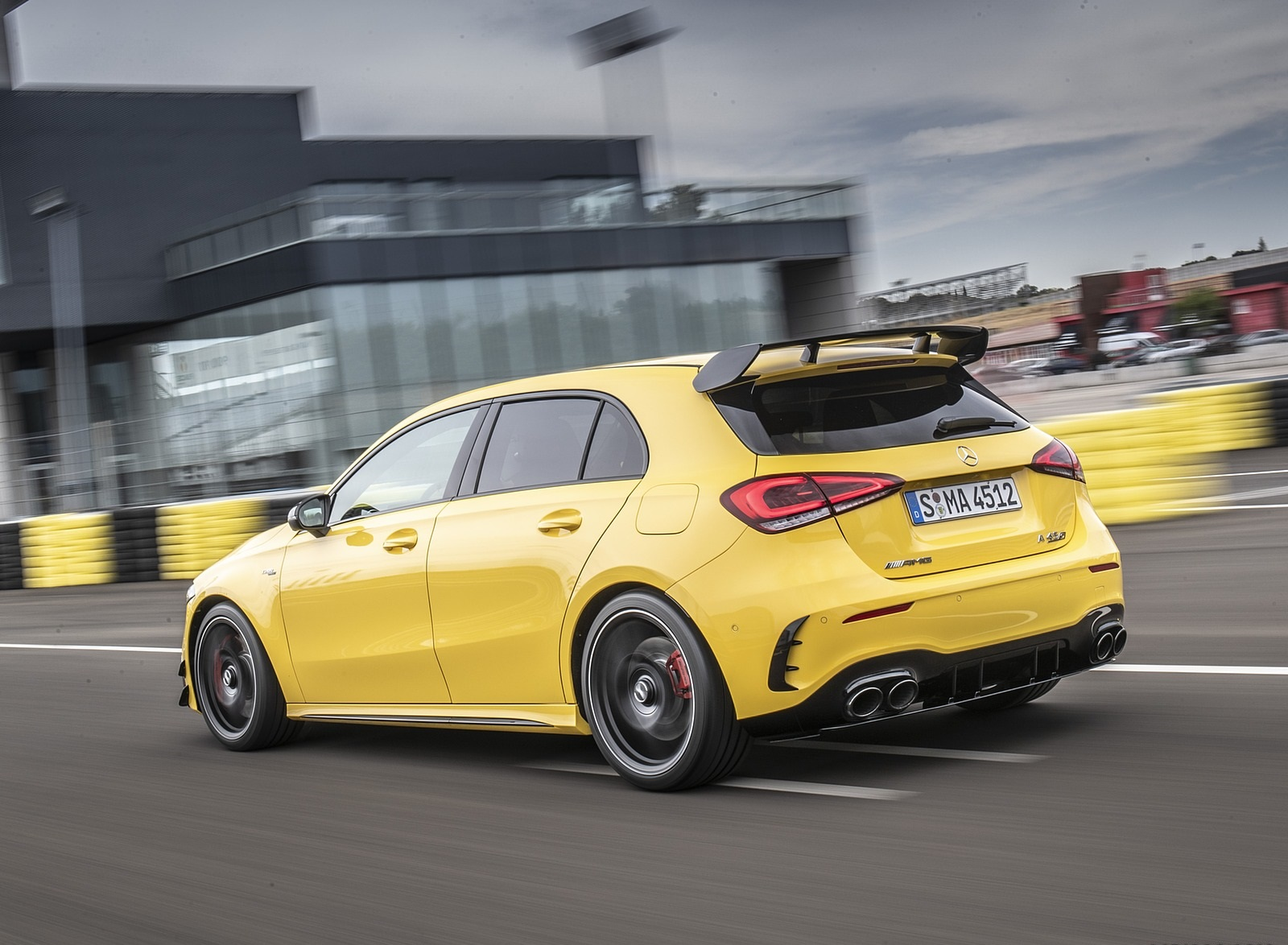 2020 Mercedes-AMG A 45 S 4MATIC+ (Color: Sun Yellow) Rear Three-Quarter Wallpapers (6)
