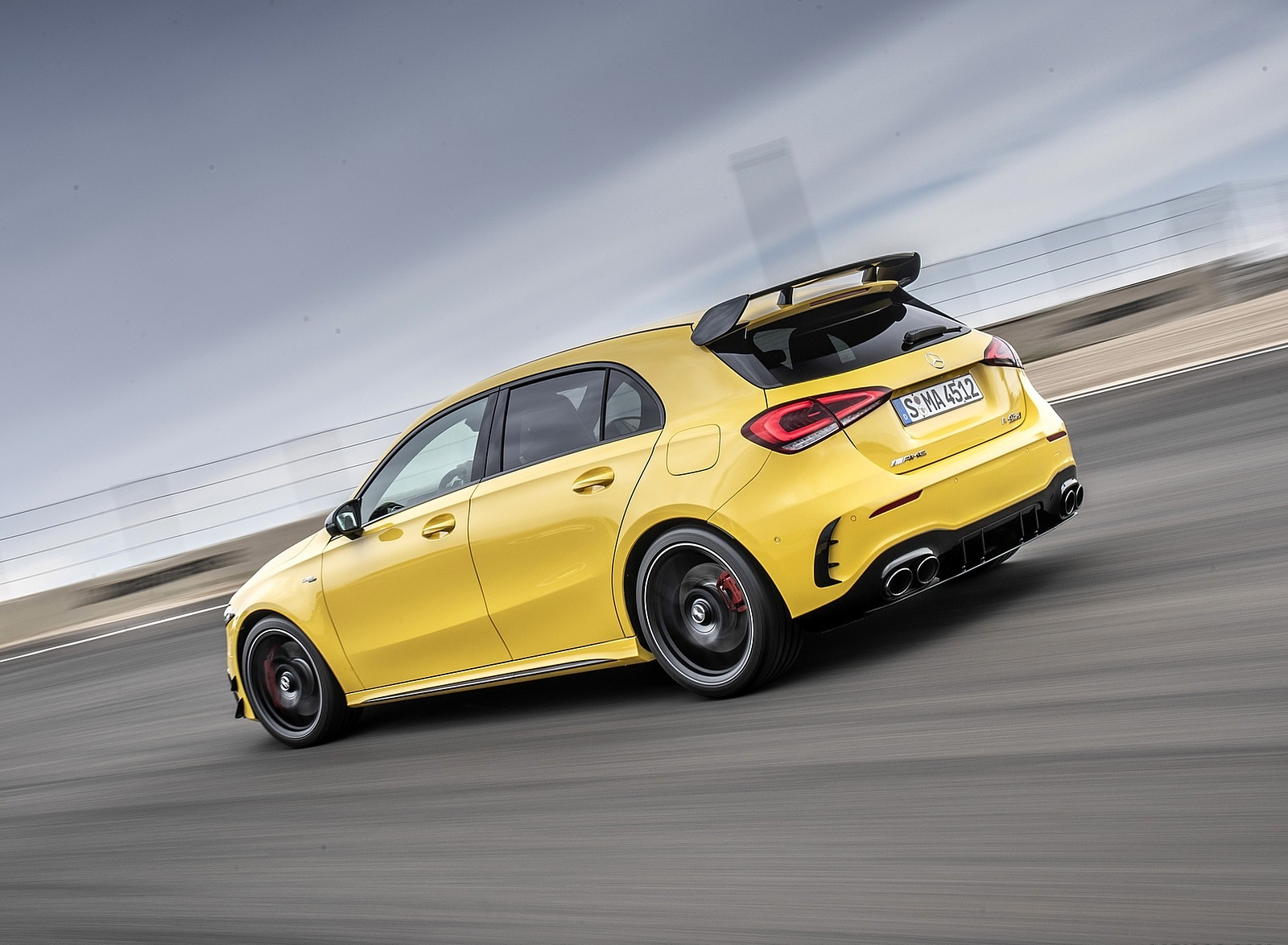 2020 Mercedes-AMG A 45 S 4MATIC+ (Color: Sun Yellow) Rear Three-Quarter Wallpapers (7)