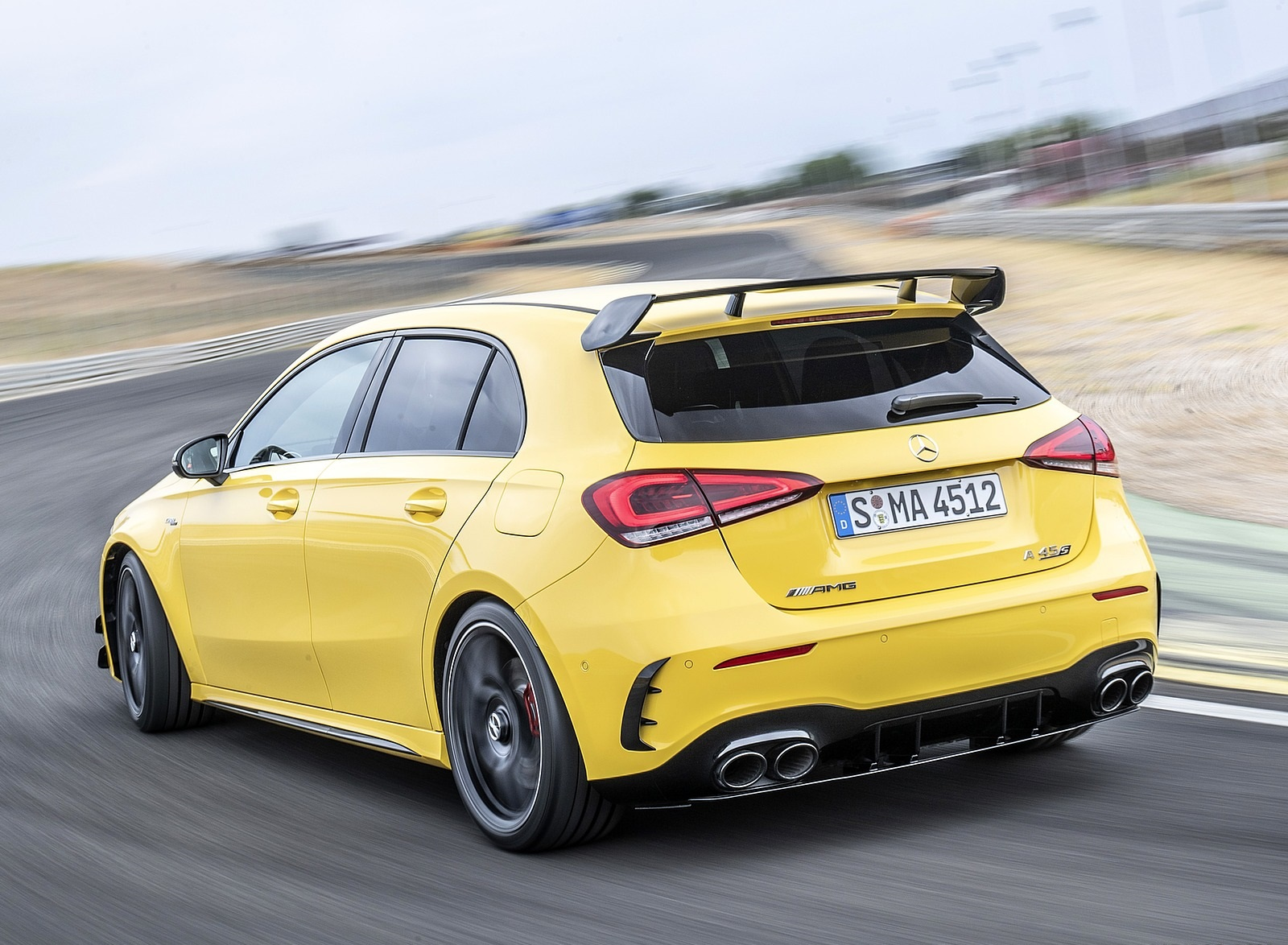 2020 Mercedes-AMG A 45 S 4MATIC+ (Color: Sun Yellow) Rear Three-Quarter Wallpapers (8)