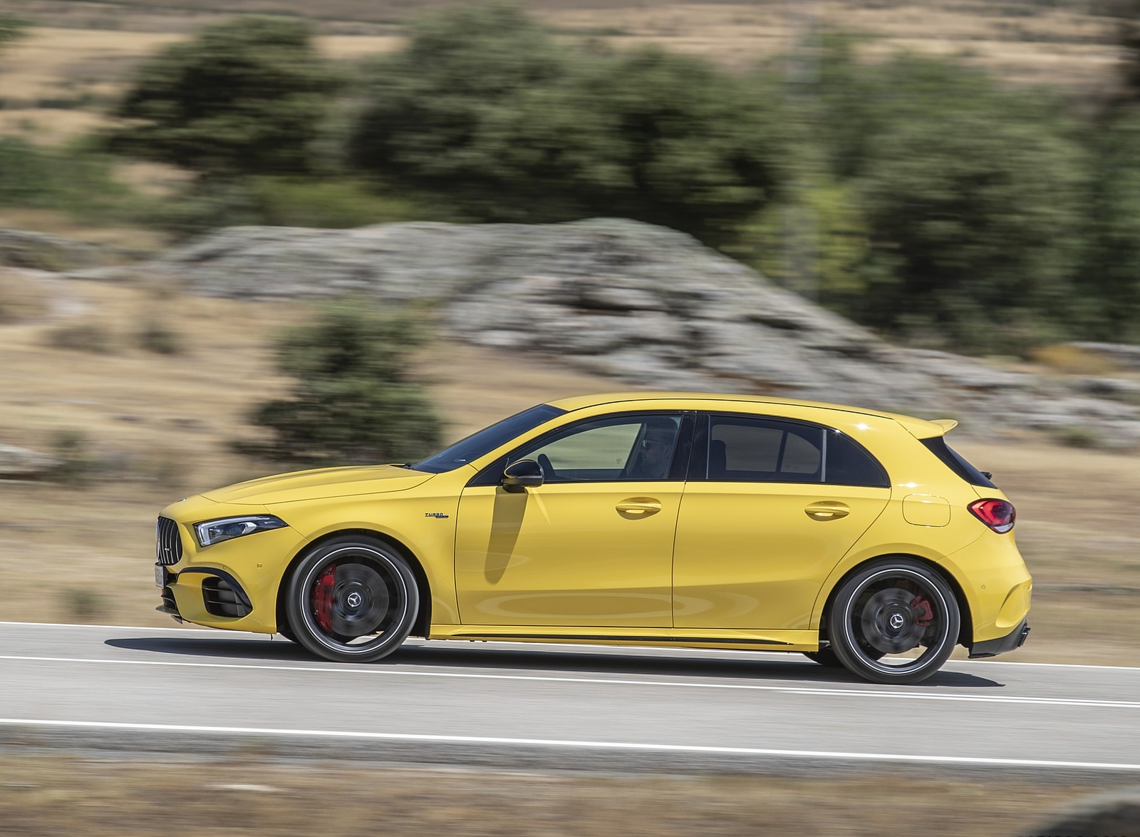 2020 Mercedes-AMG A 45 S 4MATIC+ (Color: Sun Yellow) Side Wallpapers (12)