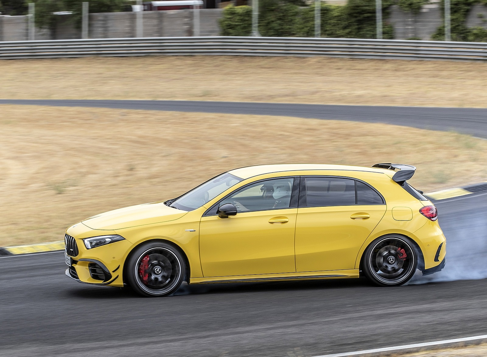 2020 Mercedes-AMG A 45 S 4MATIC+ (Color: Sun Yellow) Side Wallpapers (13)