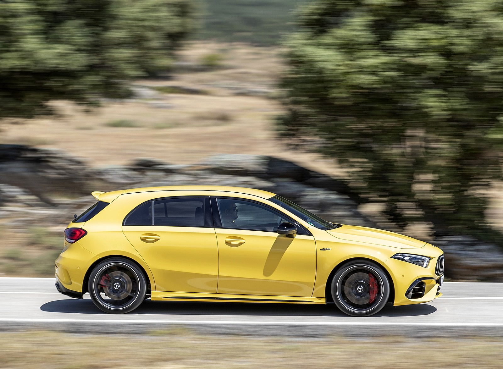 2020 Mercedes-AMG A 45 S 4MATIC+ (Color: Sun Yellow) Side Wallpapers (9)