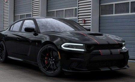 2019 Dodge Charger SRT Hellcat Octane Edition (Color: Pitch Black) Front Three-Quarter Wallpapers 450x275 (6)