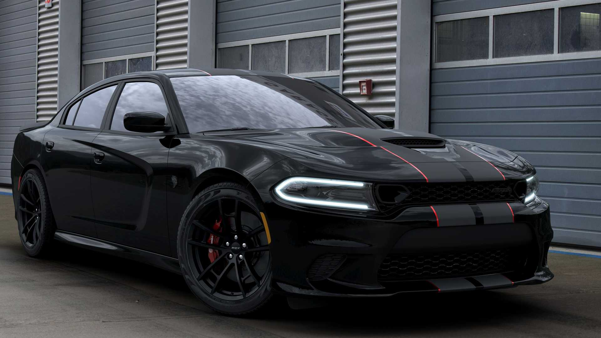 2019 Dodge Charger SRT Hellcat Octane Edition (Color: Pitch Black) Front Three-Quarter Wallpapers (6)