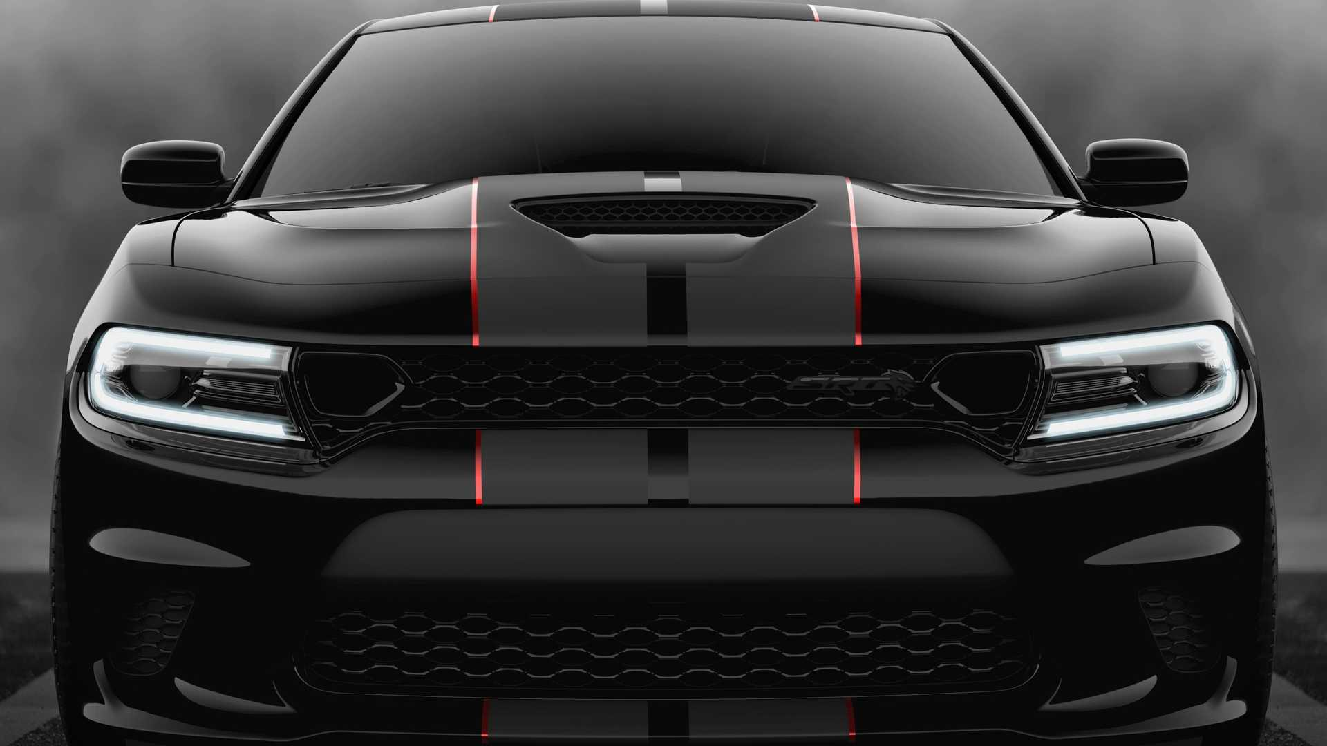 2019 Dodge Charger SRT Hellcat Octane Edition (Color: Pitch Black) Front Wallpapers (9)
