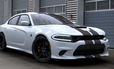 2019 Dodge Charger SRT Hellcat Octane Edition (Color: White Knuckle) Front Three-Quarter Wallpapers 450x275 (2)