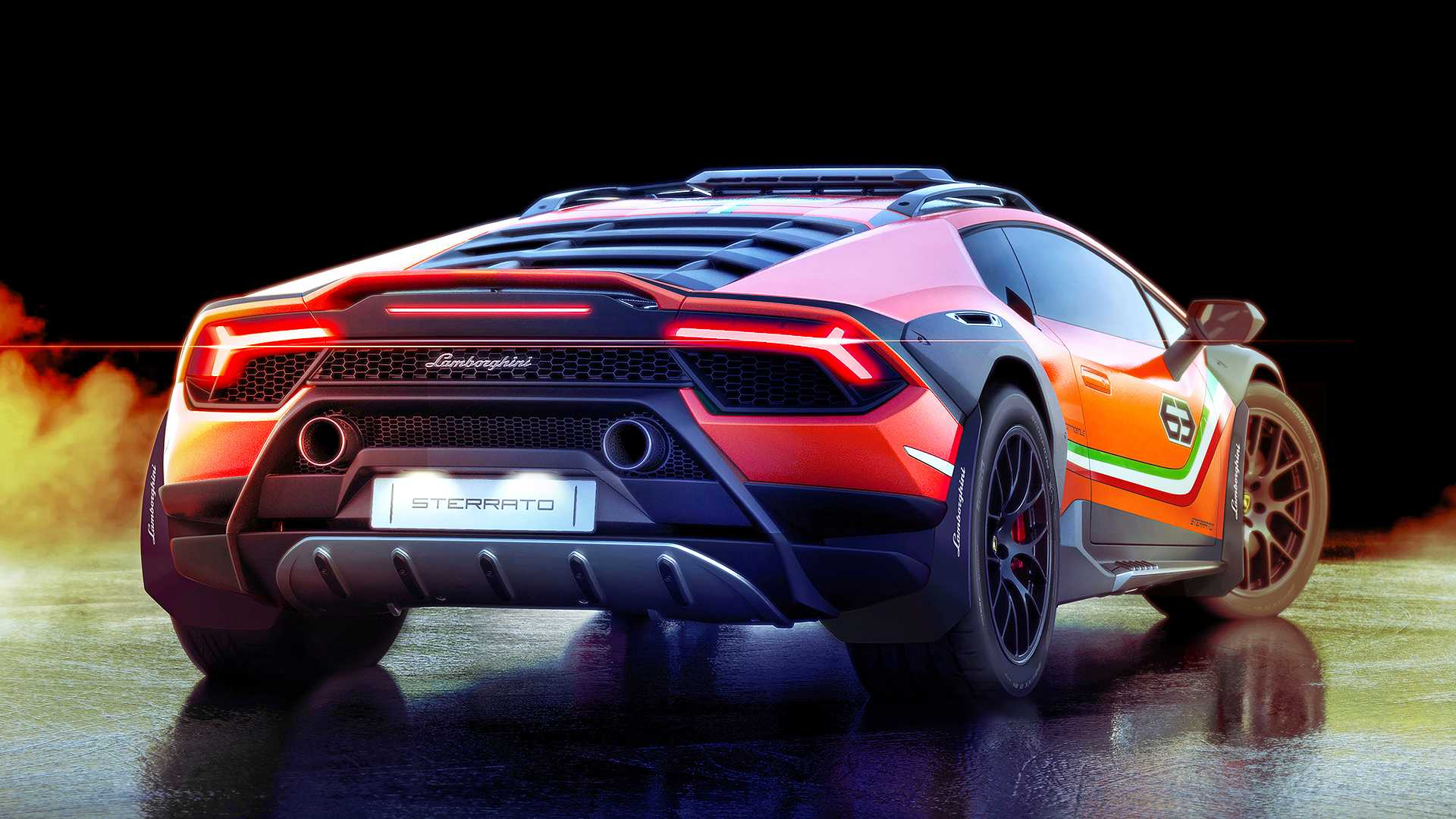 2019 Lamborghini Huracán Sterrato Concept Rear Wallpapers (6)
