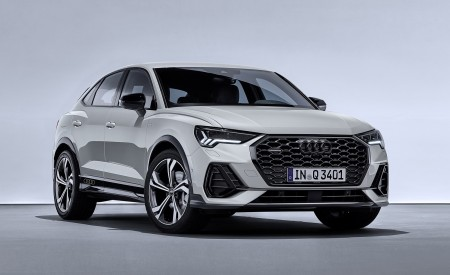 2020 Audi Q3 Sportback S line (Color: Dew Silver) Front Three-Quarter Wallpapers 450x275 (141)