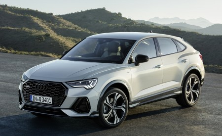 2020 Audi Q3 Sportback S line (Color: Dew Silver) Front Three-Quarter Wallpapers 450x275 (137)
