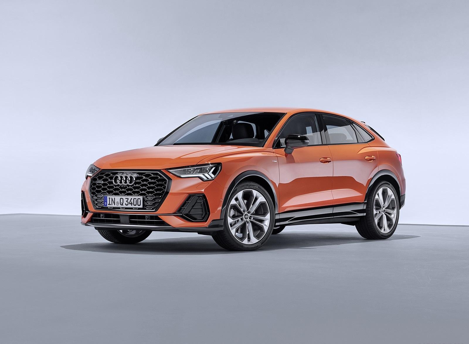 2020 Audi Q3 Sportback S line (Color: Pulse Orange) Front Three-Quarter Wallpapers (9)