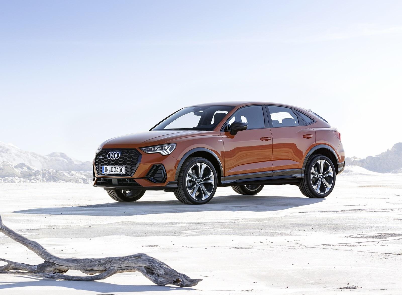 2020 Audi Q3 Sportback S line (Color: Pulse Orange) Front Three-Quarter Wallpapers (7)