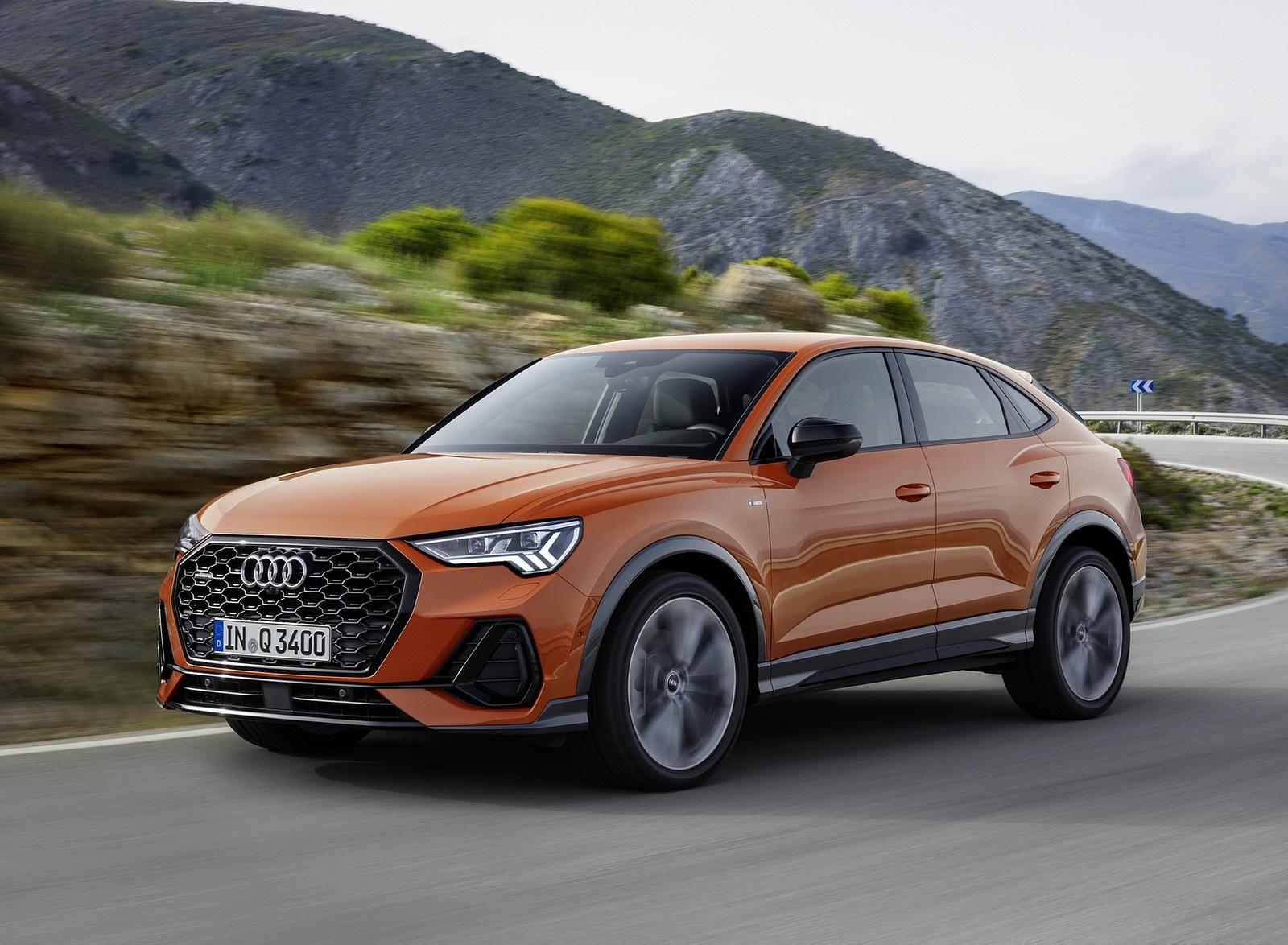 2020 Audi Q3 Sportback S line (Color: Pulse Orange) Front Three-Quarter Wallpapers (1)