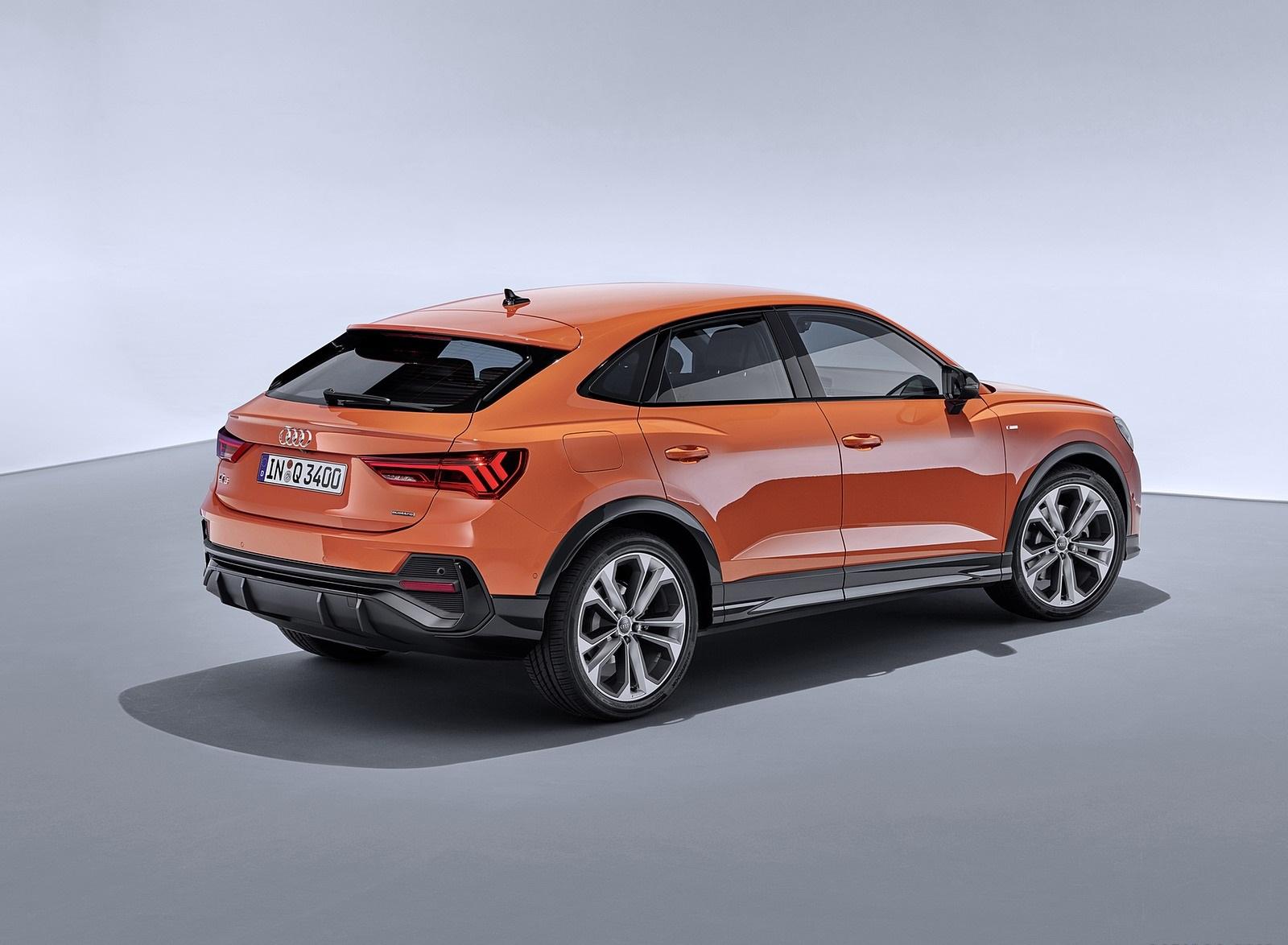 2020 Audi Q3 Sportback S line (Color: Pulse Orange) Rear Three-Quarter Wallpapers (11)