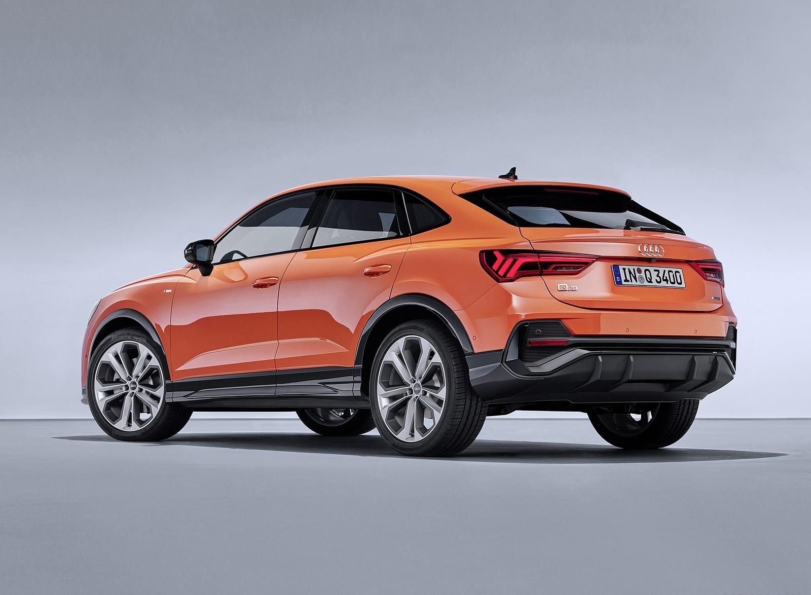 2020 Audi Q3 Sportback S line (Color: Pulse Orange) Rear Three-Quarter Wallpapers (12)