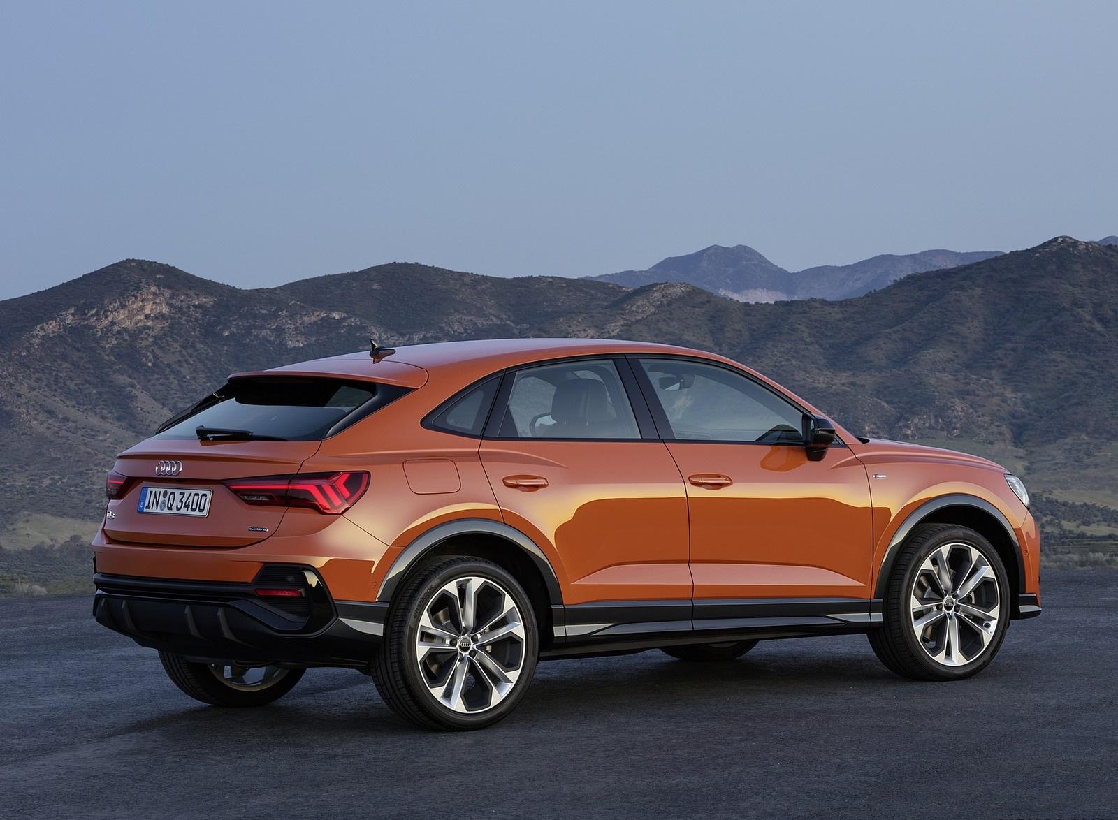2020 Audi Q3 Sportback S Line Color Pulse Orange Rear Three Quarter Wallpapers 120 Newcarcars