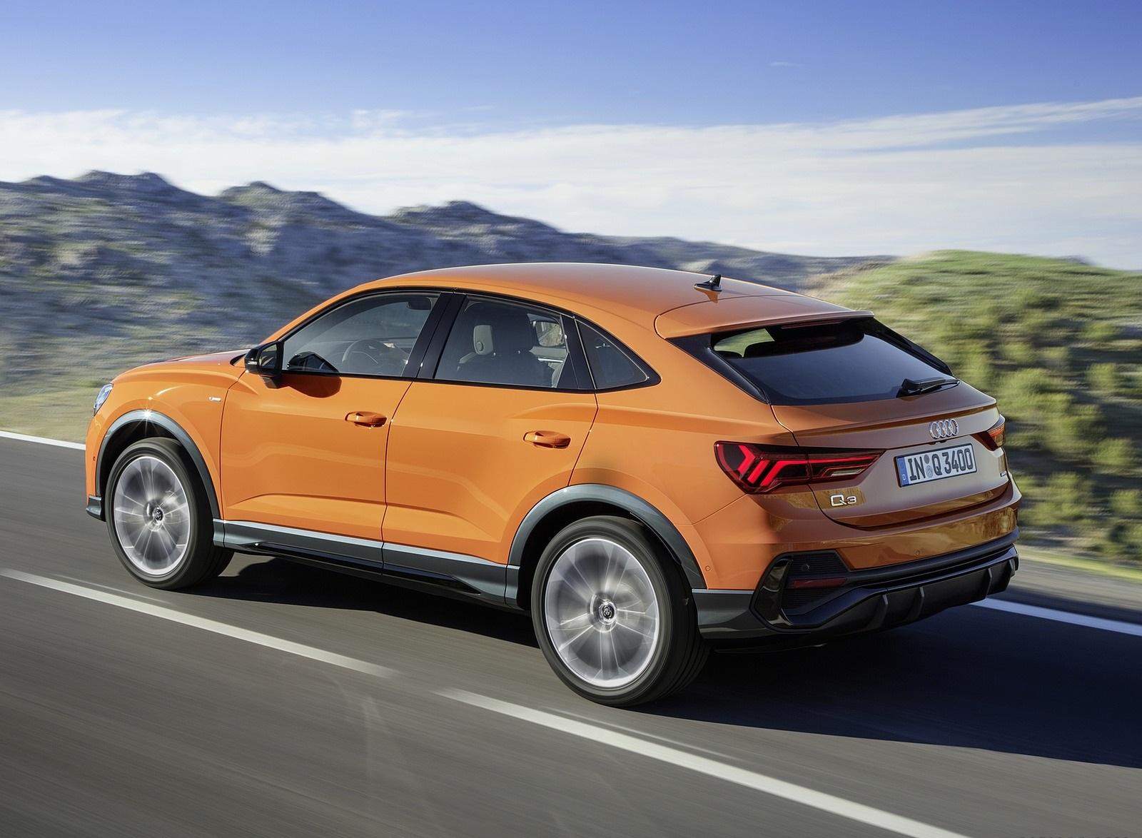 2020 Audi Q3 Sportback S line (Color: Pulse Orange) Rear Three-Quarter Wallpapers (3)