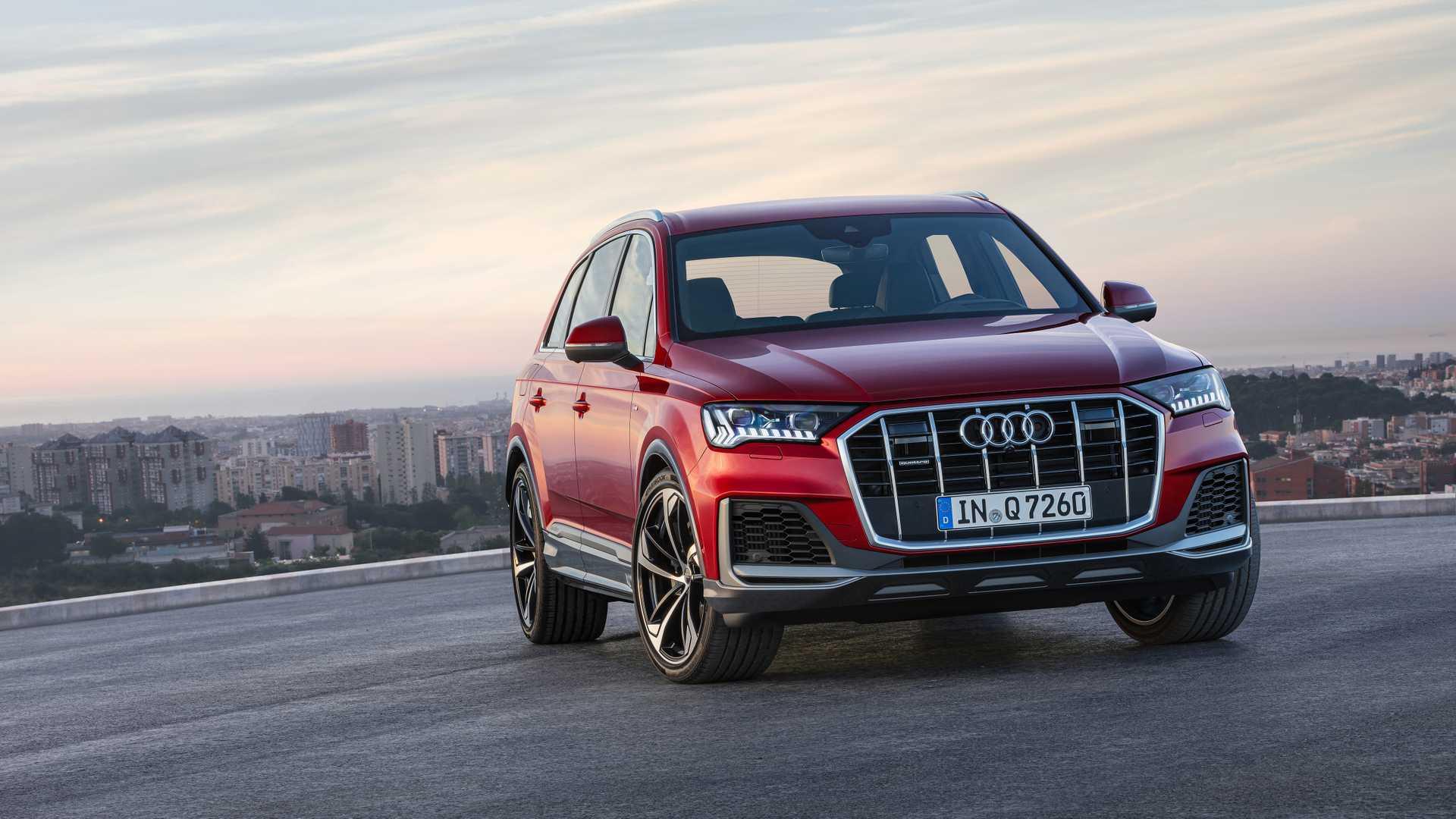2020 Audi Q7 (Color: Matador Red) Front Wallpapers (7)