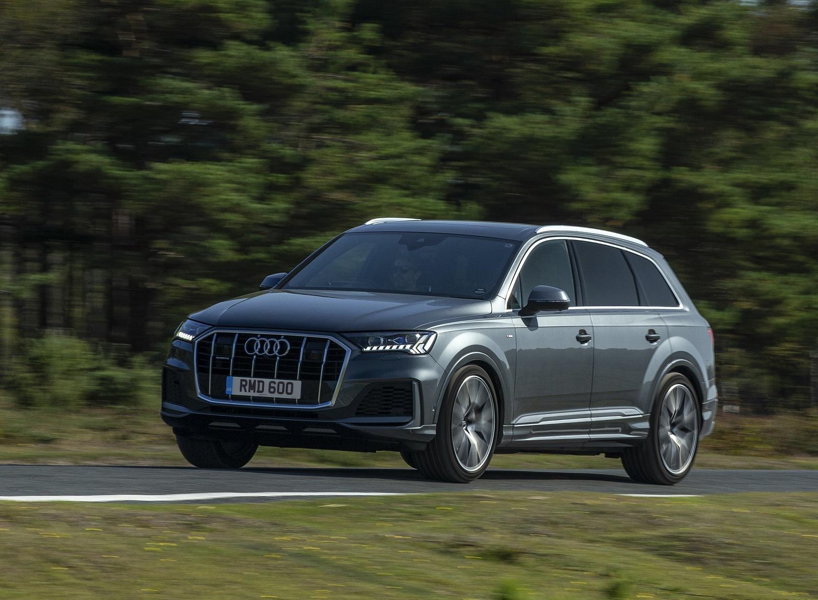 2020 Audi Q7 (UK-Spec) Front Three-Quarter Wallpapers (8)