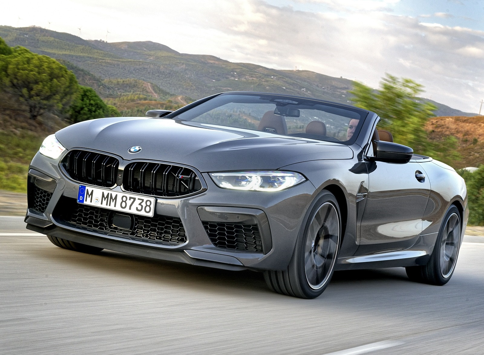 2020 BMW M8 Competition Convertible (Color: Brands Hatch Grey) Front Three-Quarter Wallpapers (11)