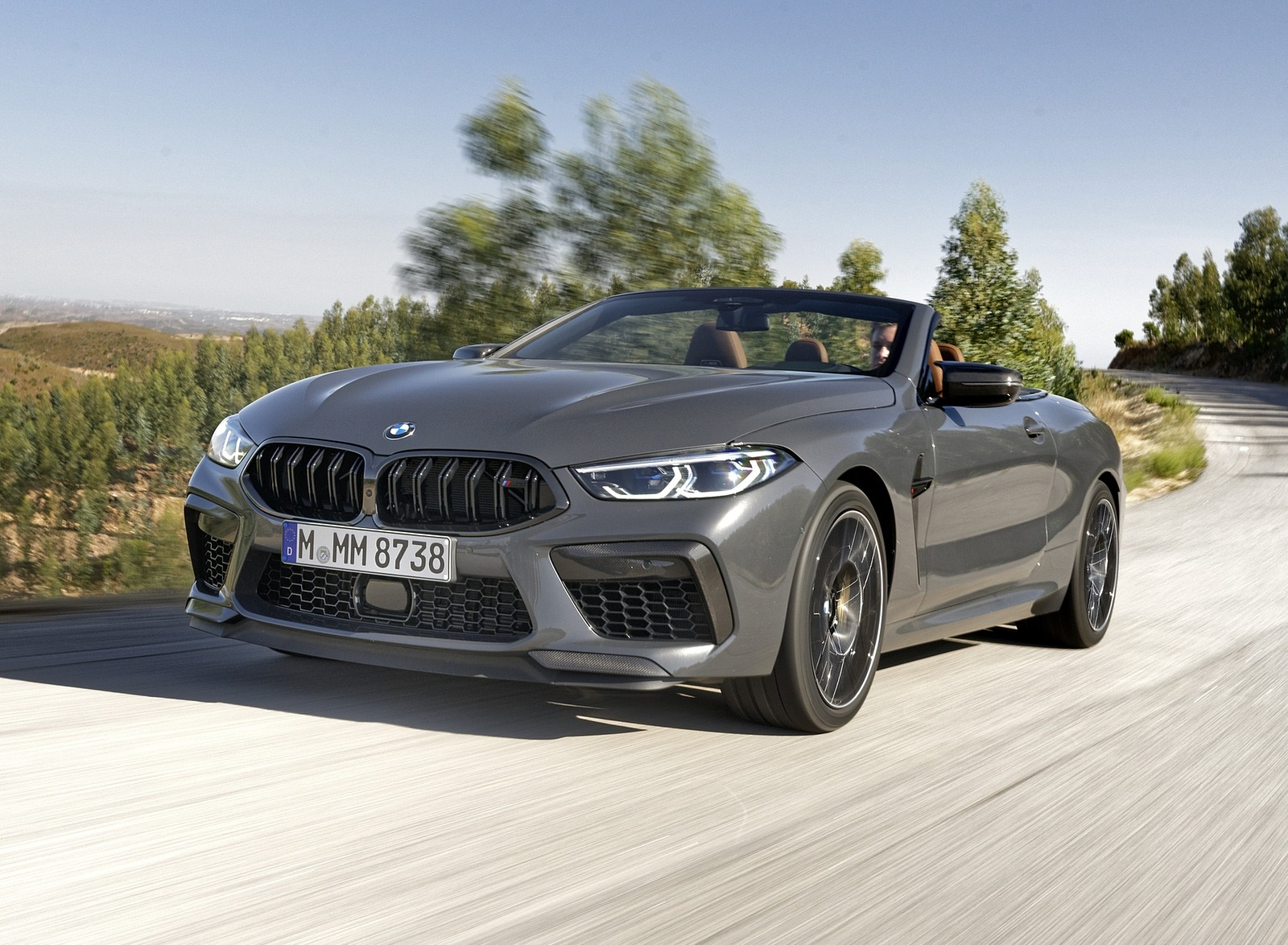 2020 BMW M8 Competition Convertible (Color: Brands Hatch Grey) Front Three-Quarter Wallpapers (15)