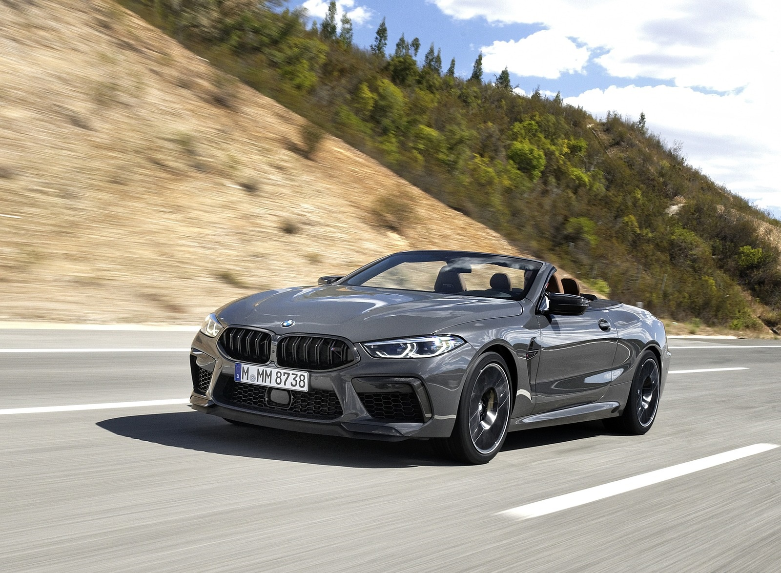 2020 BMW M8 Competition Convertible (Color: Brands Hatch Grey) Front Three-Quarter Wallpapers (1)