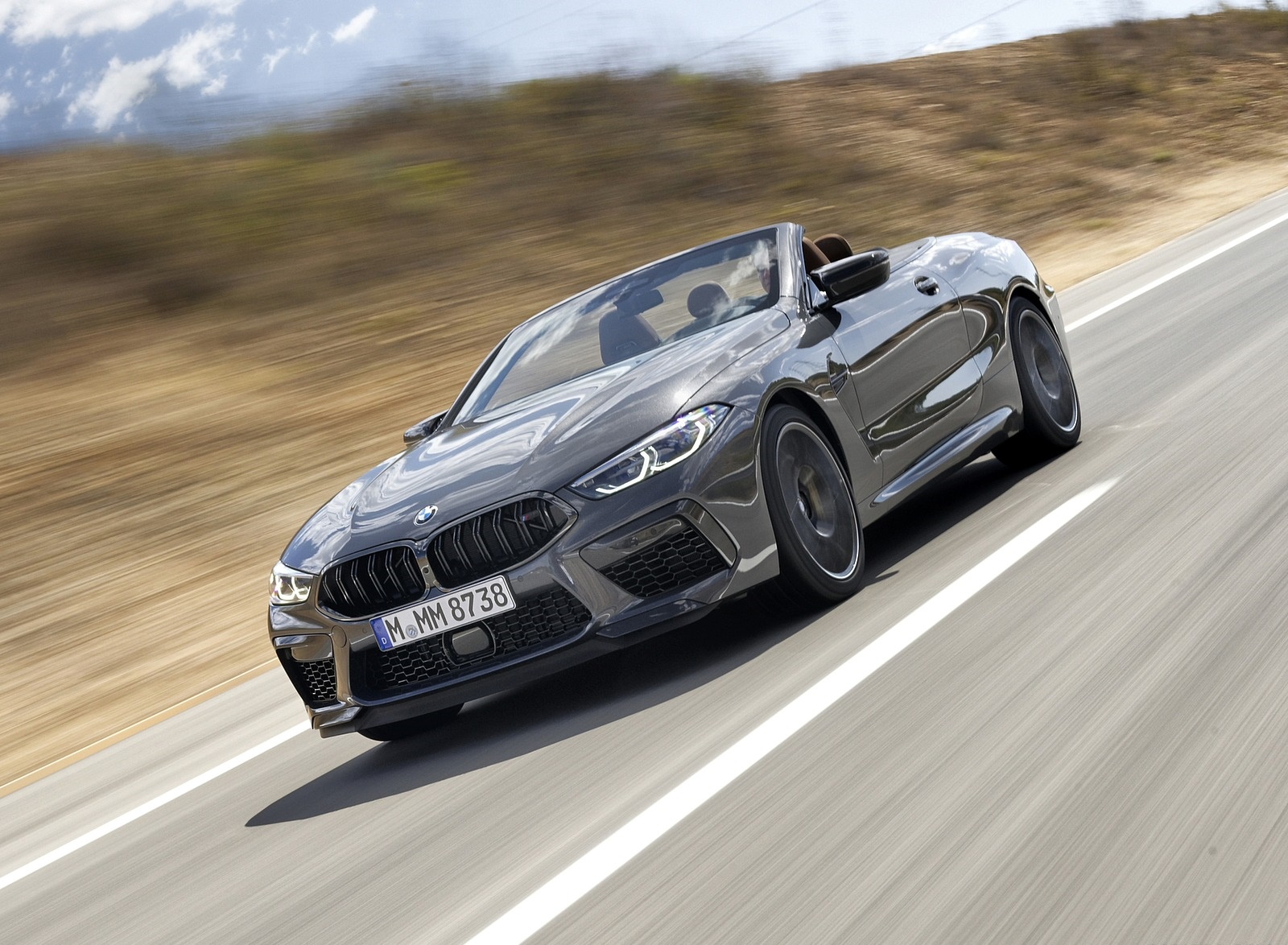 2020 BMW M8 Competition Convertible (Color: Brands Hatch Grey) Front Three-Quarter Wallpapers (2)