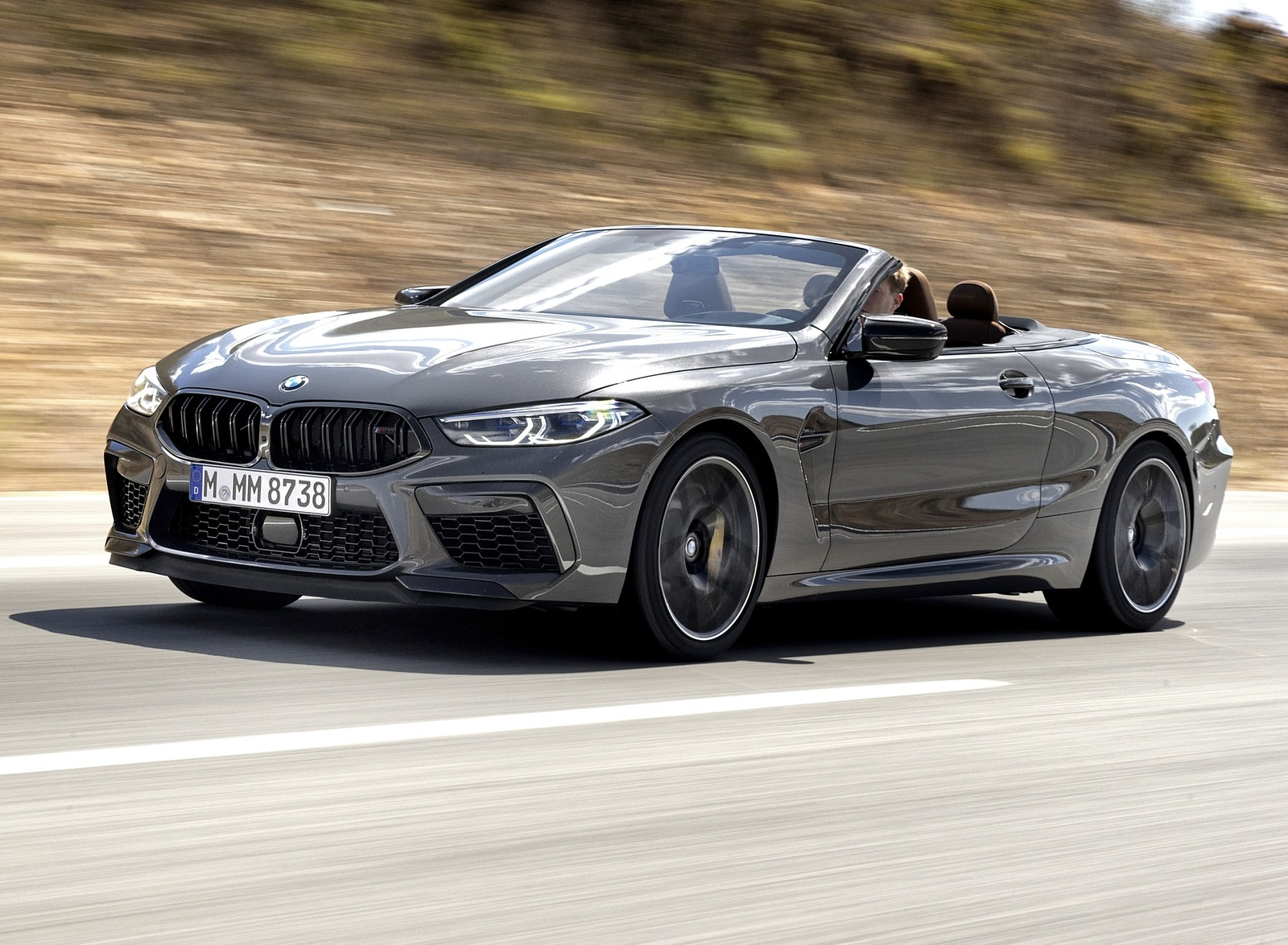 2020 BMW M8 Competition Convertible (Color: Brands Hatch Grey) Front Three-Quarter Wallpapers (3)