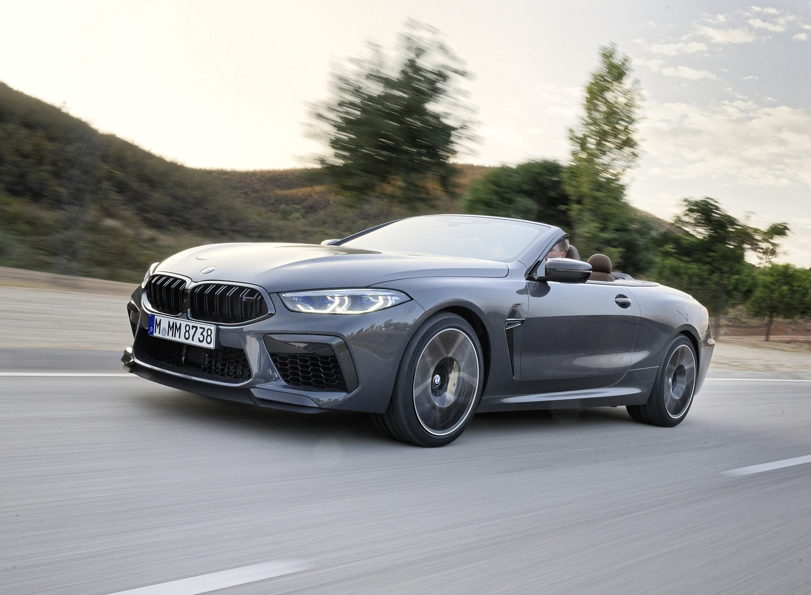 2020 BMW M8 Competition Convertible (Color: Brands Hatch Grey) Front Three-Quarter Wallpapers (4)