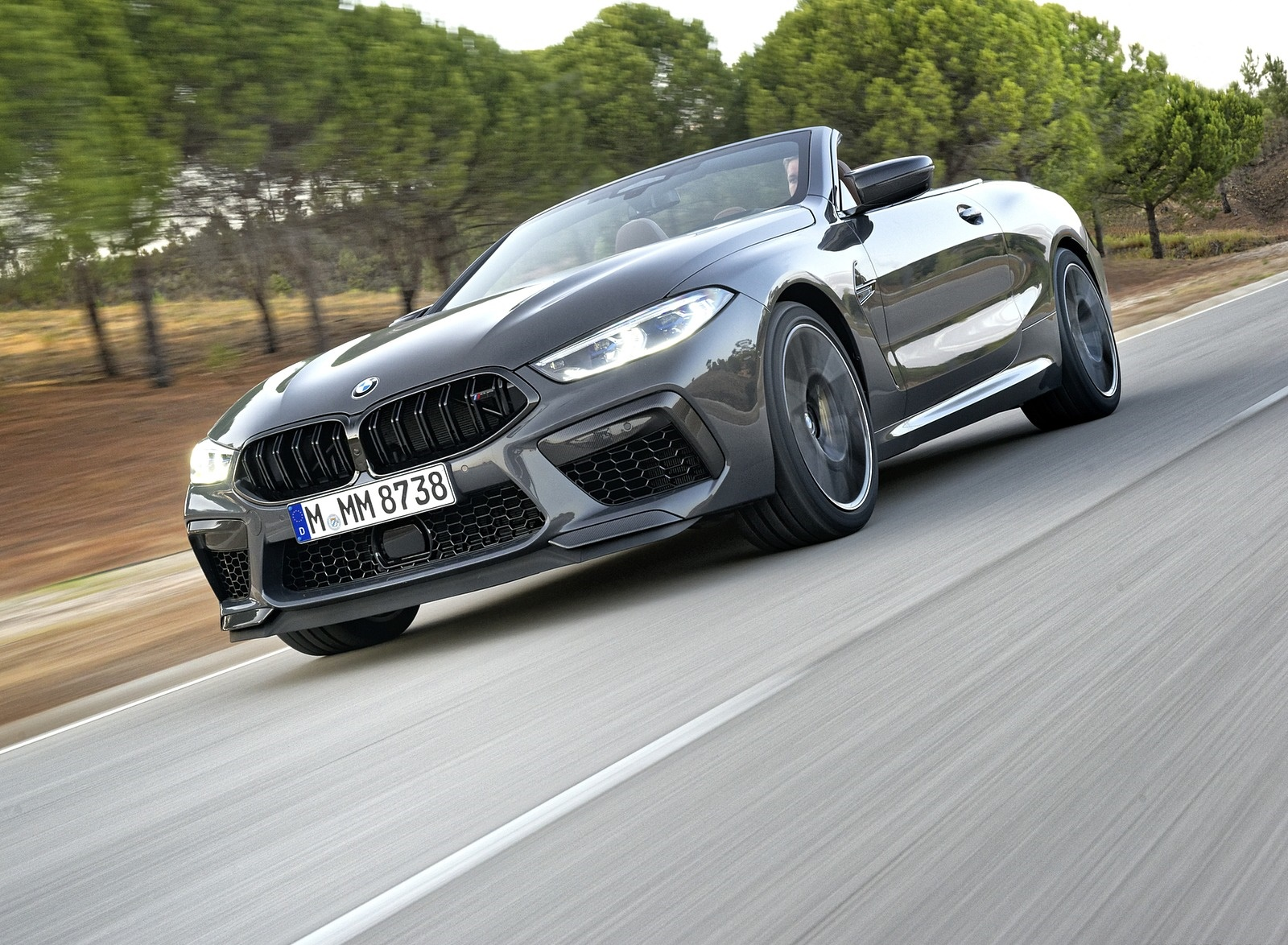 2020 BMW M8 Competition Convertible (Color: Brands Hatch Grey) Front Three-Quarter Wallpapers (5)