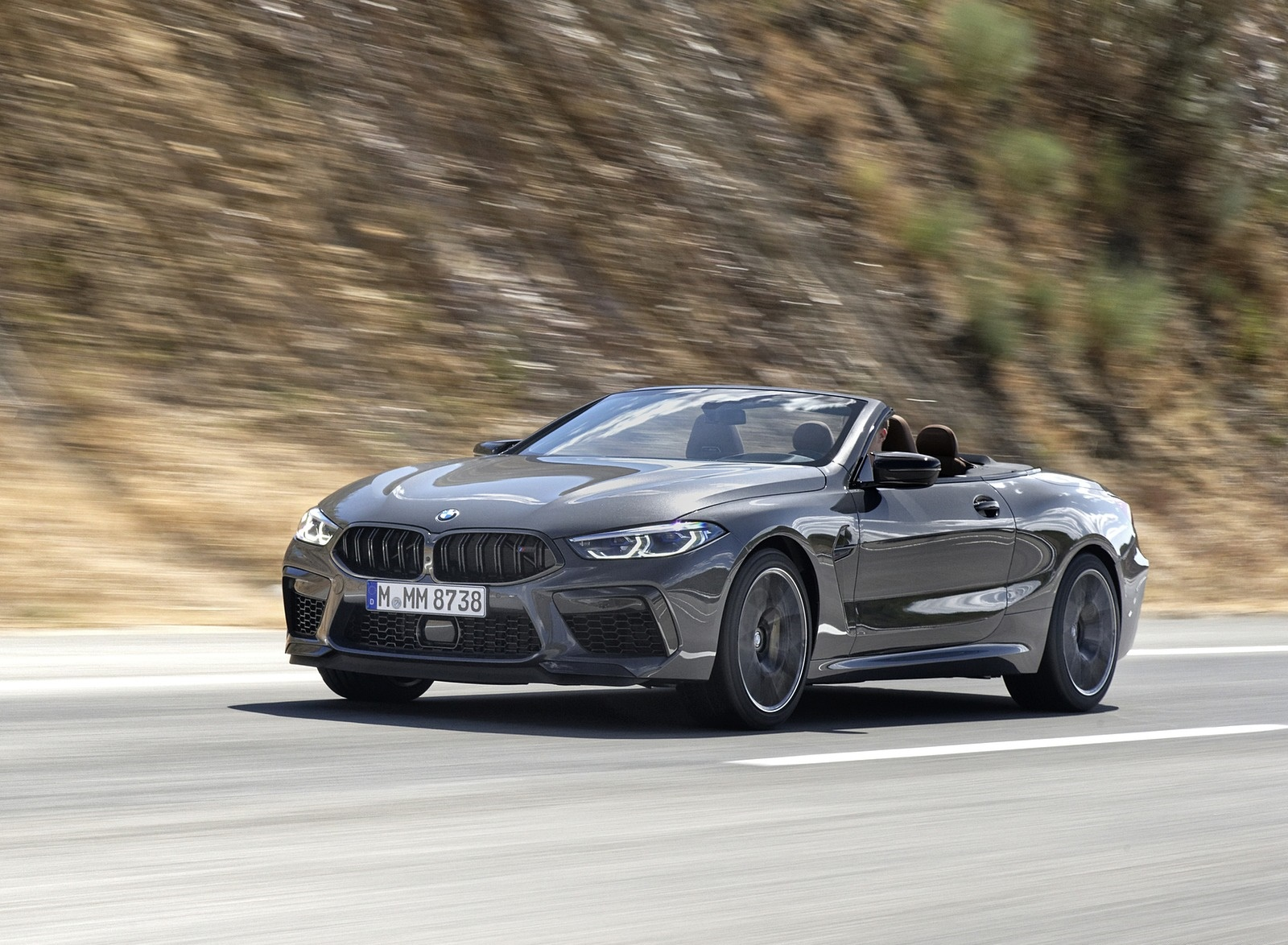 2020 BMW M8 Competition Convertible (Color: Brands Hatch Grey) Front Three-Quarter Wallpapers (6)