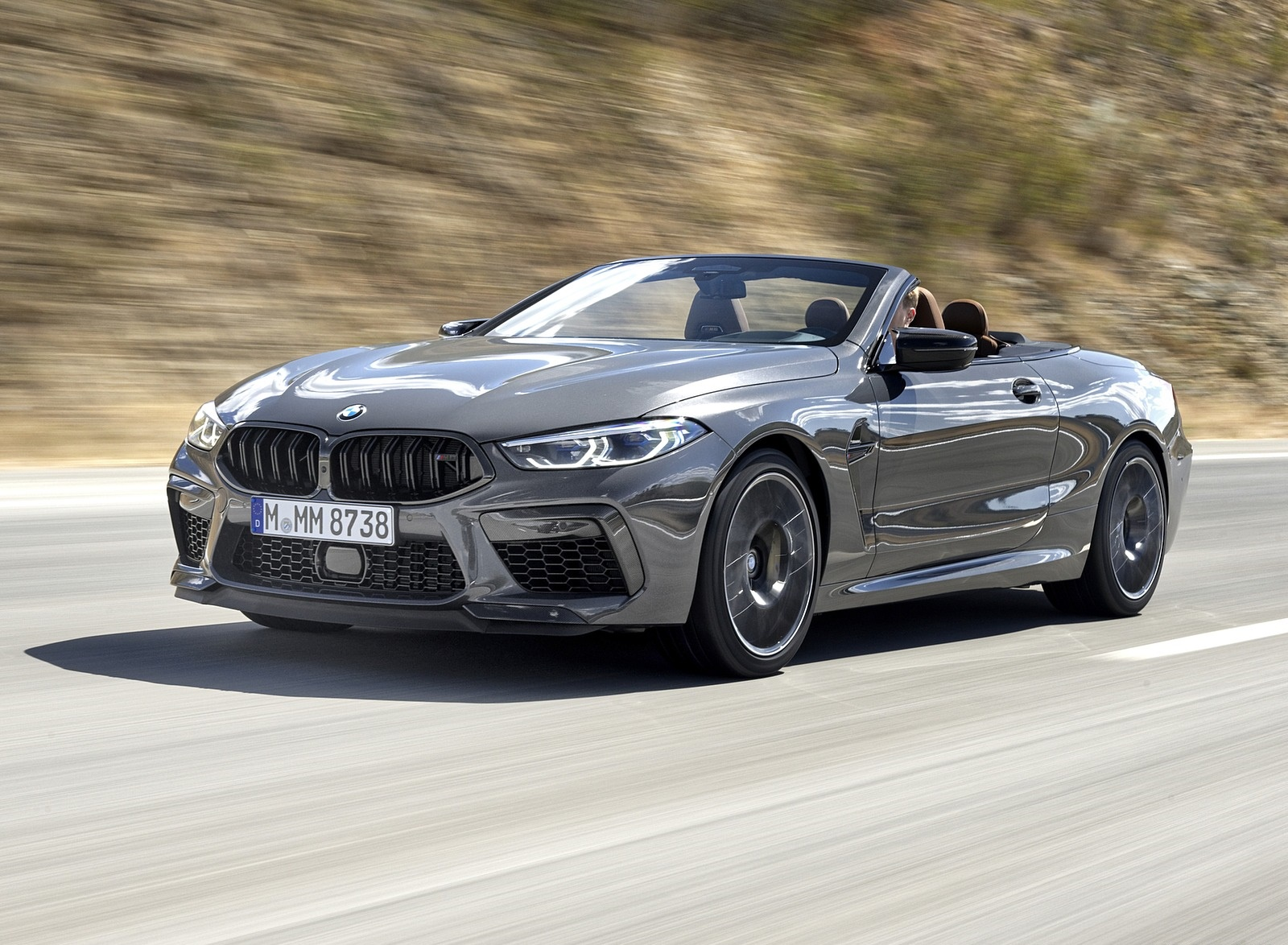 2020 BMW M8 Competition Convertible (Color: Brands Hatch Grey) Front Three-Quarter Wallpapers (7)