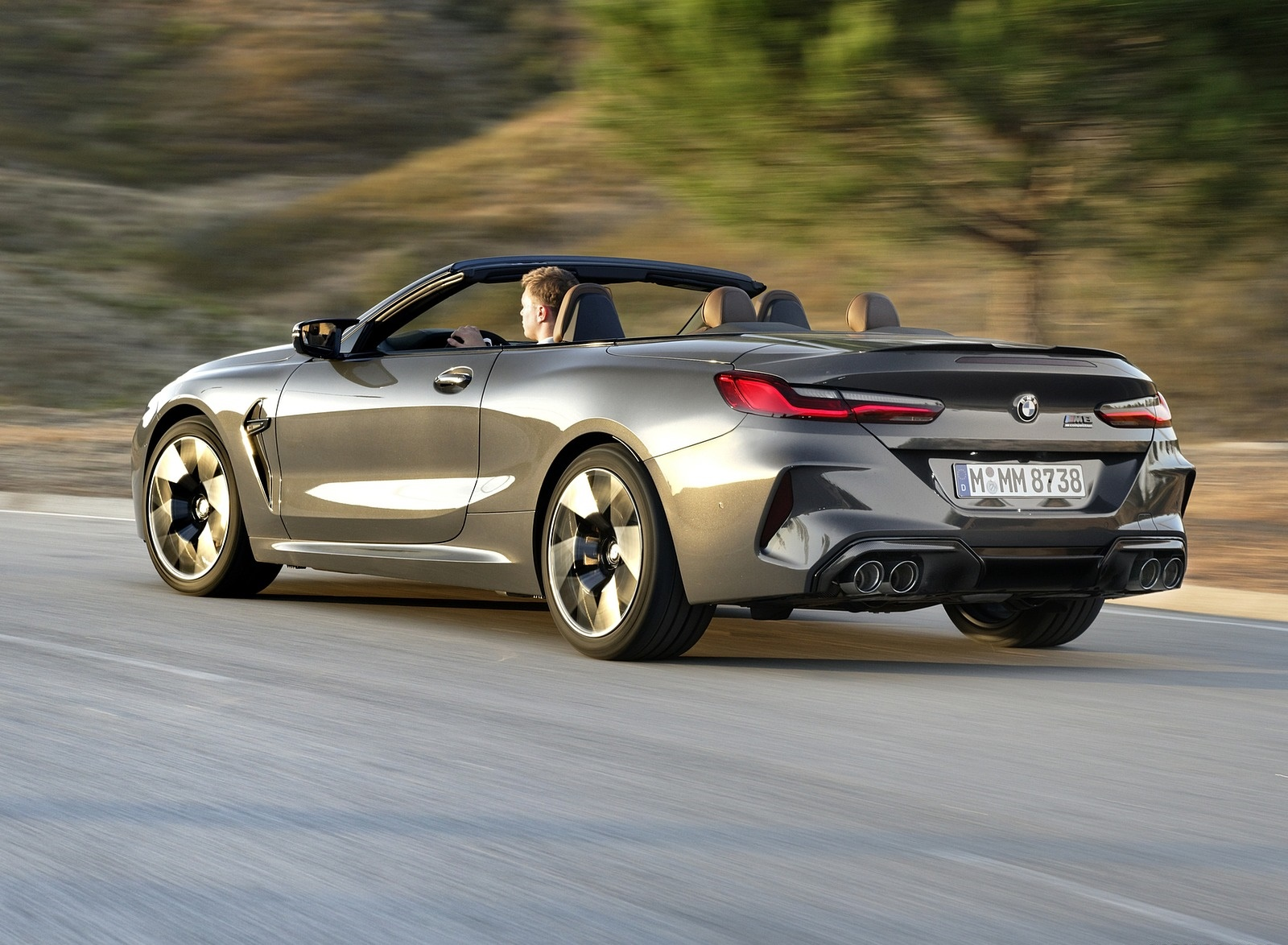 2020 BMW M8 Competition Convertible (Color: Brands Hatch Grey) Rear Three-Quarter Wallpapers (14)