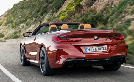 2020 BMW M8 Competition Convertible Rear Three-Quarter Wallpapers 450x275 (7)