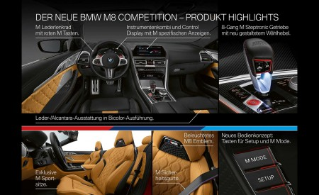 2020 BMW M8 Competition Convertible Technology Wallpapers 450x275 (49)
