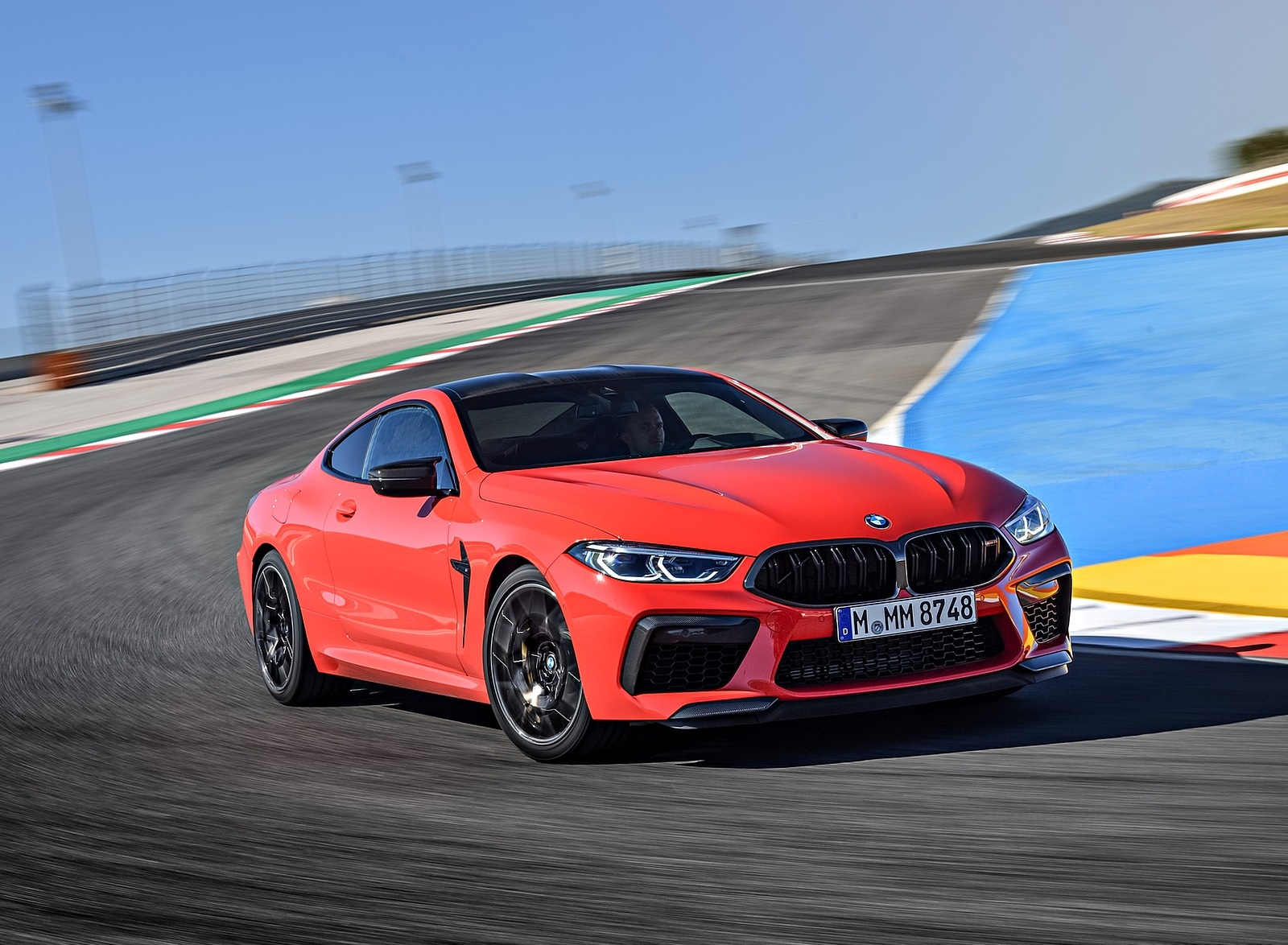2020 BMW M8 Competition Coupe (Color: Fire Red) Front Three-Quarter Wallpapers (10)