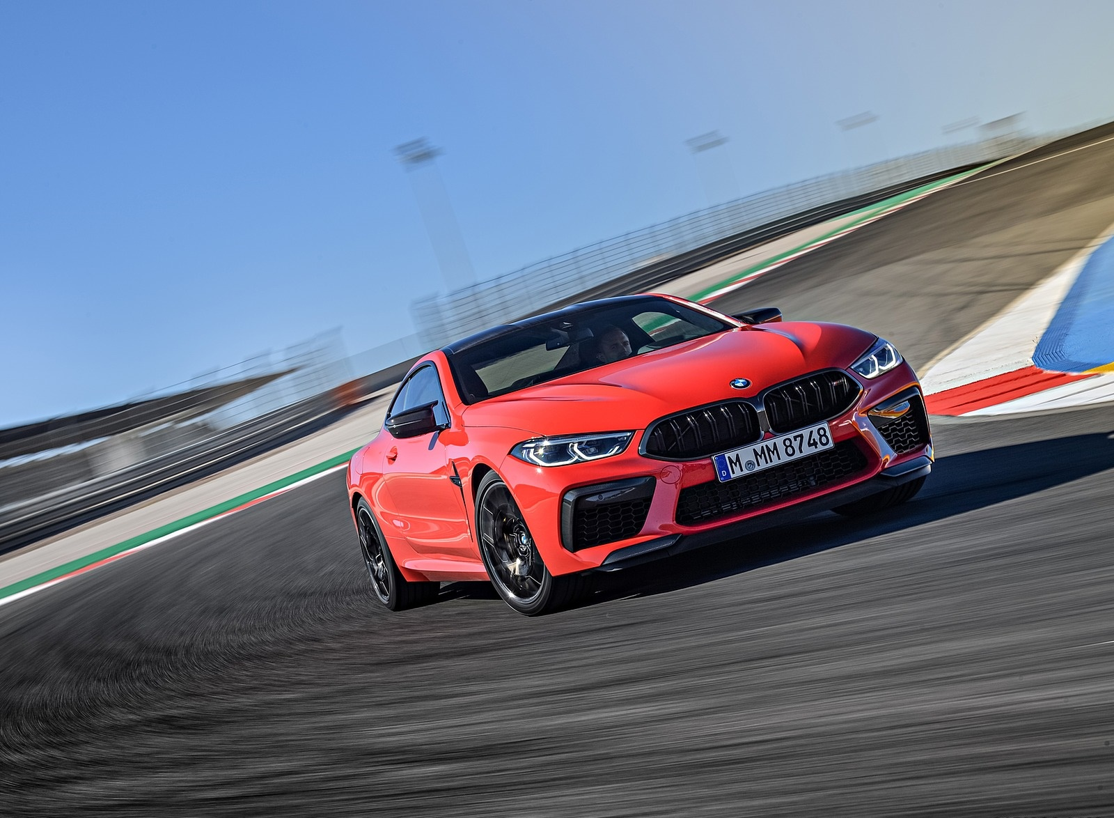 2020 BMW M8 Competition Coupe (Color: Fire Red) Front Three-Quarter Wallpapers (2)