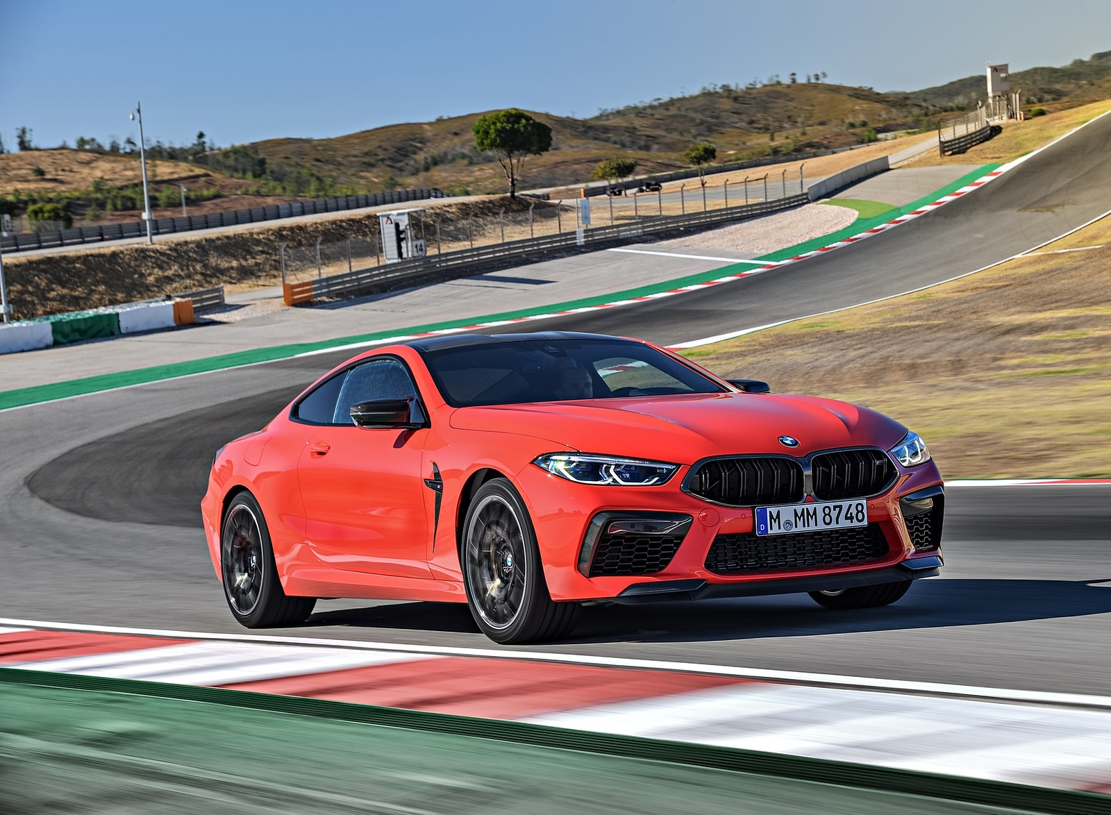 2020 BMW M8 Competition Coupe (Color: Fire Red) Front Three-Quarter Wallpapers (11)