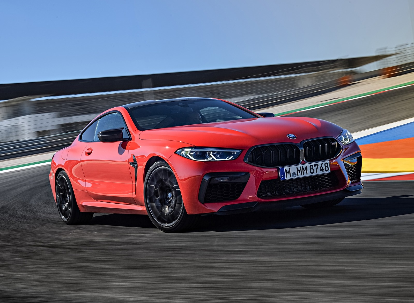 2020 BMW M8 Competition Coupe (Color: Fire Red) Front Three-Quarter Wallpapers (3)