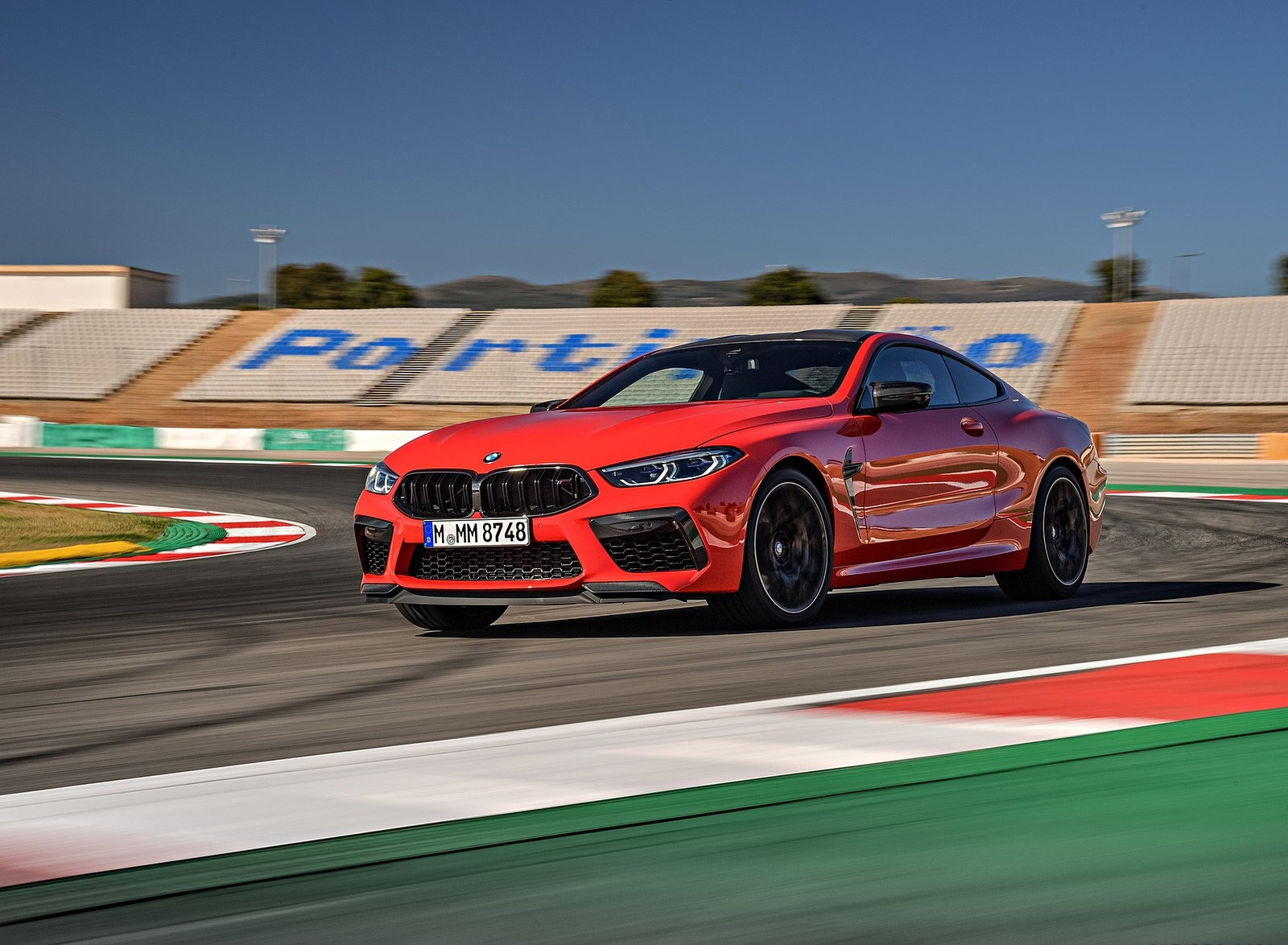 2020 BMW M8 Competition Coupe (Color: Fire Red) Front Three-Quarter Wallpapers (12)