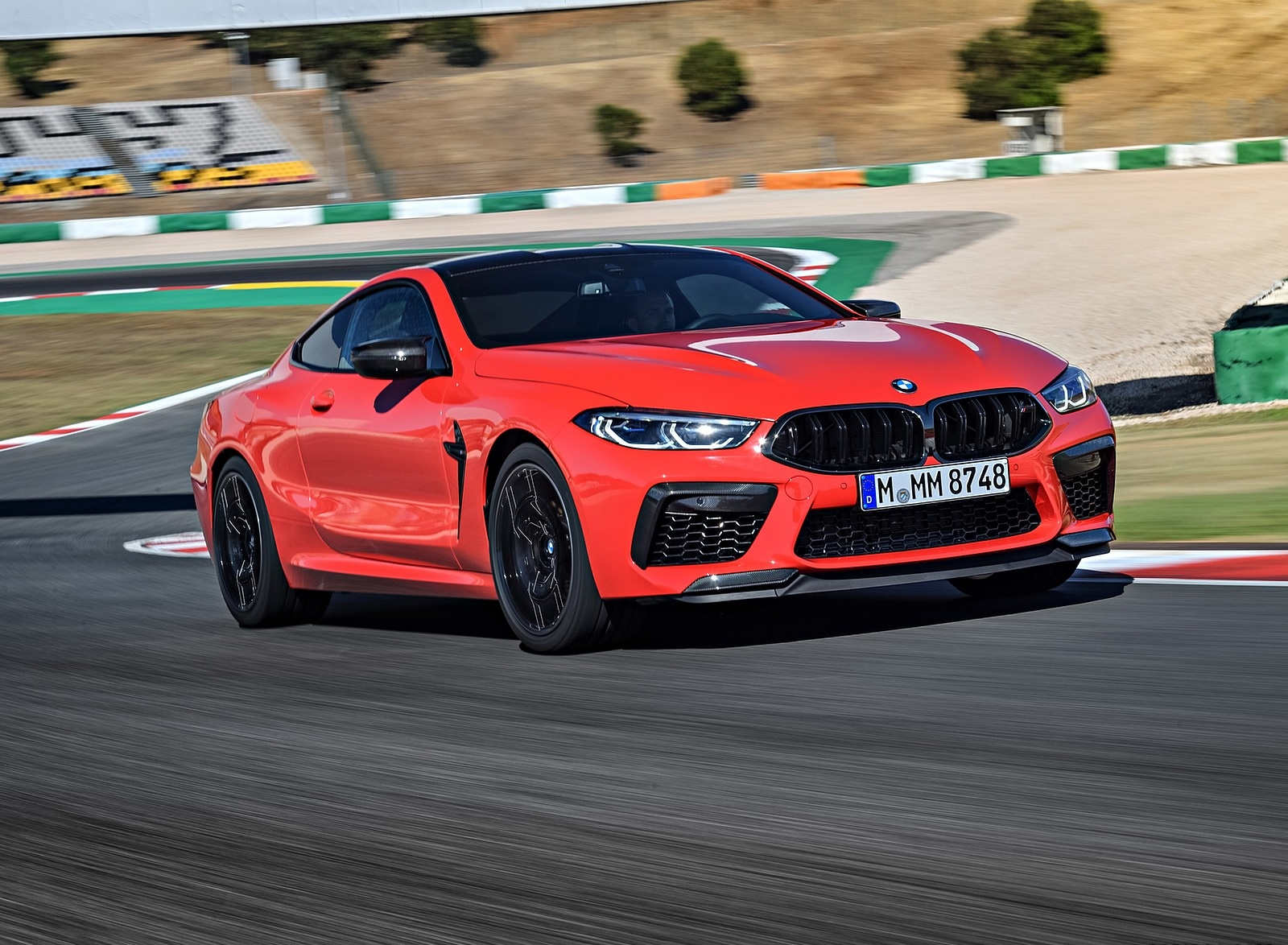 2020 BMW M8 Competition Coupe (Color: Fire Red) Front Three-Quarter Wallpapers (1)