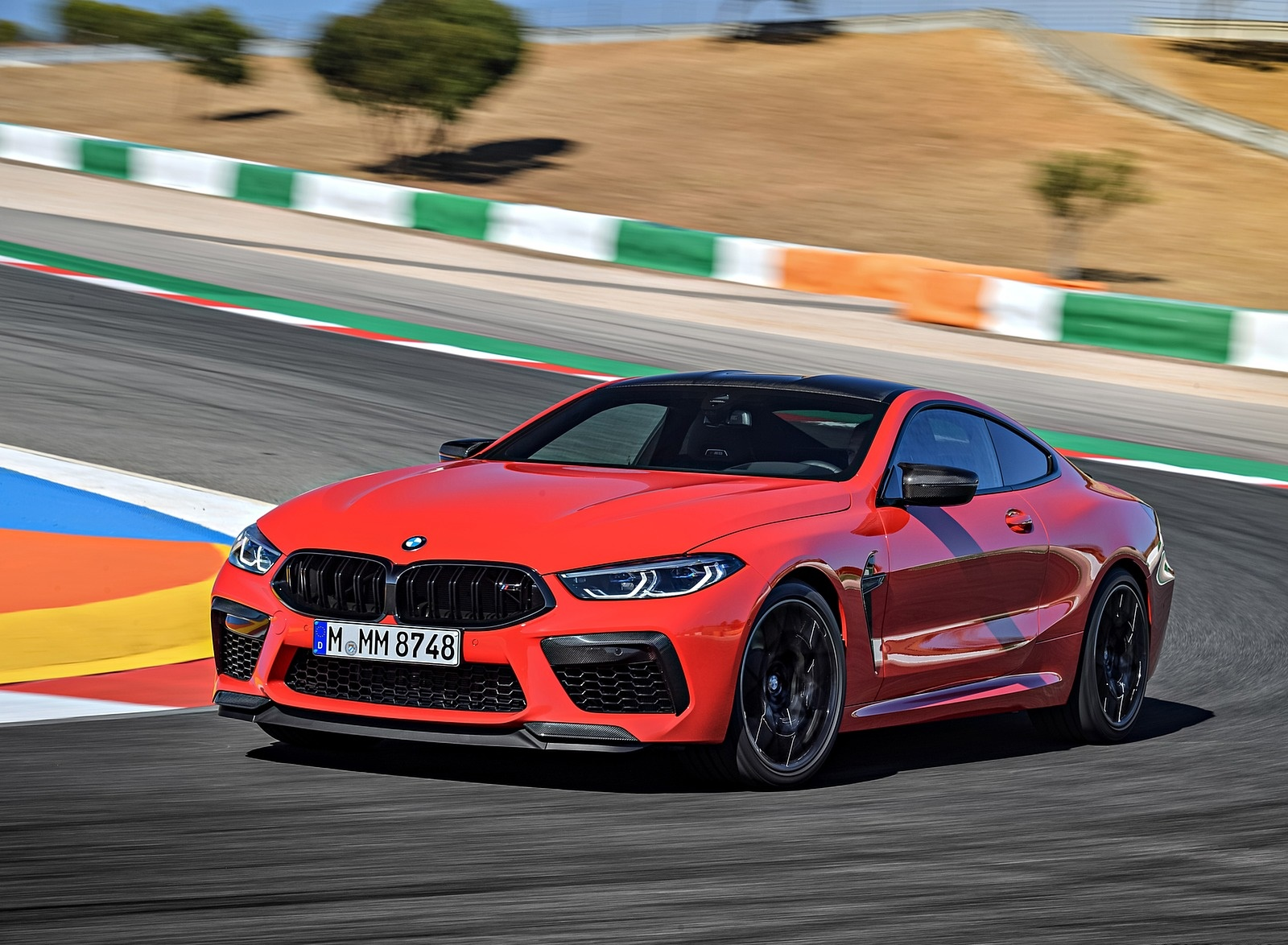 2020 BMW M8 Competition Coupe (Color: Fire Red) Front Three-Quarter Wallpapers (4)