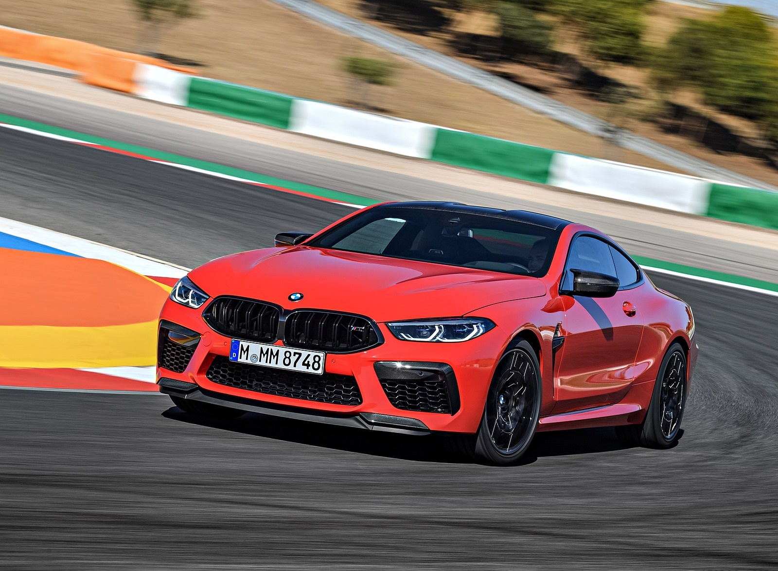 2020 BMW M8 Competition Coupe (Color: Fire Red) Front Three-Quarter Wallpapers (5)