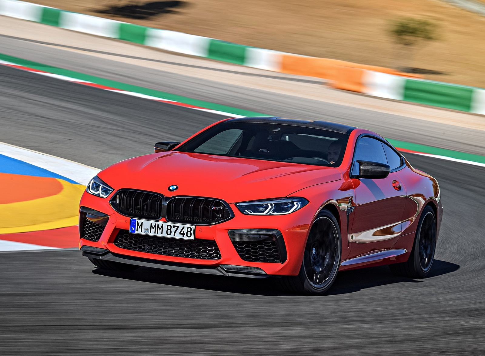 2020 BMW M8 Competition Coupe (Color: Fire Red) Front Three-Quarter Wallpapers (6)