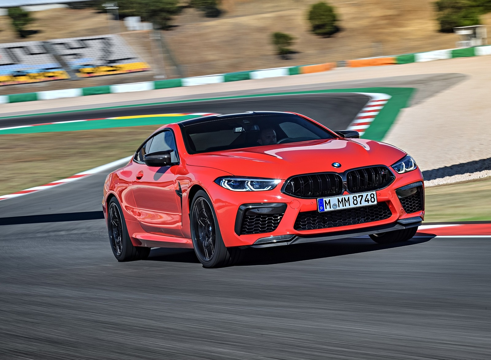 2020 BMW M8 Competition Coupe (Color: Fire Red) Front Three-Quarter Wallpapers (7)