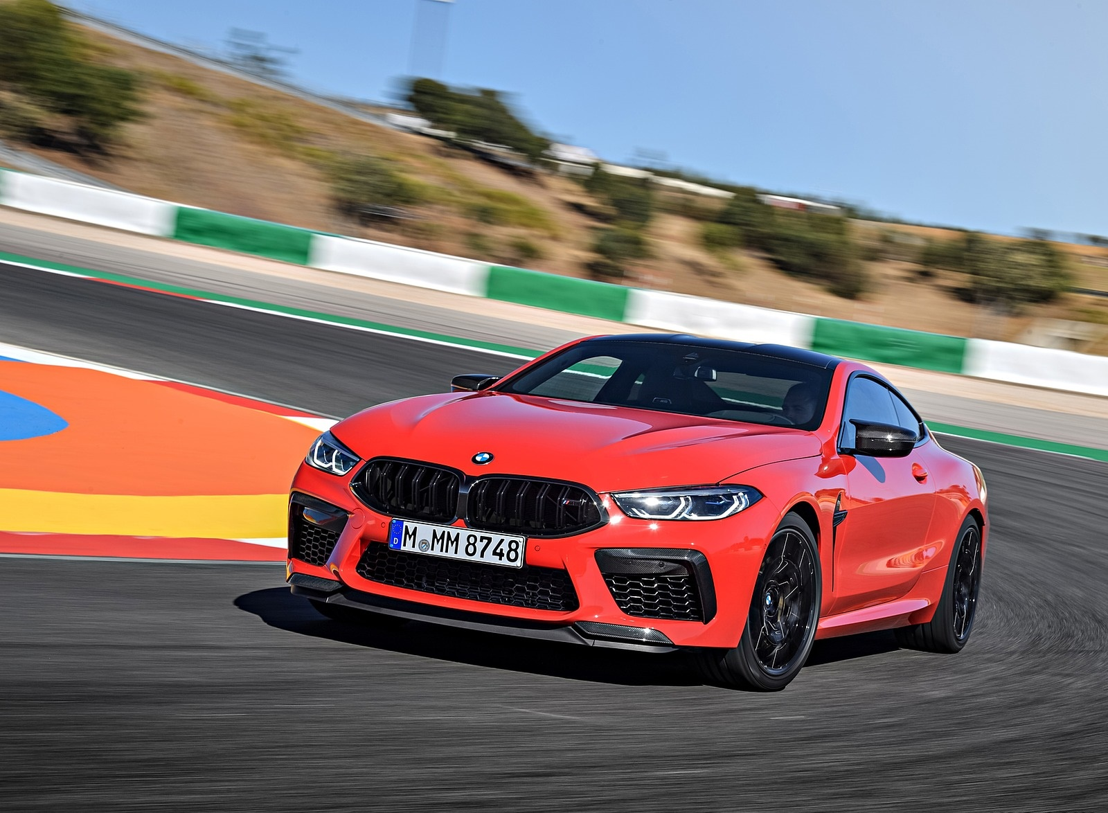 2020 BMW M8 Competition Coupe (Color: Fire Red) Front Three-Quarter Wallpapers (8)