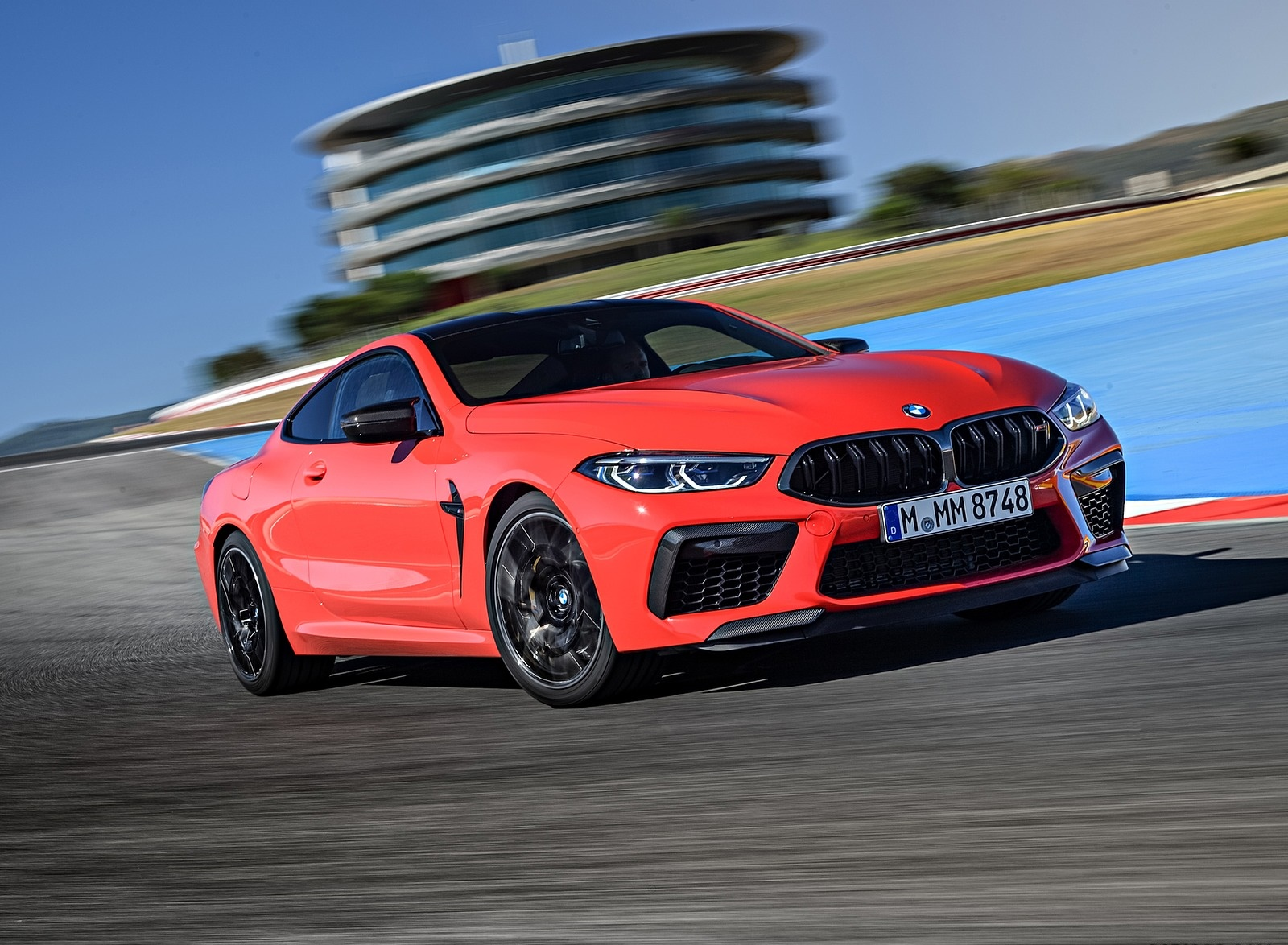 2020 BMW M8 Competition Coupe (Color: Fire Red) Front Three-Quarter Wallpapers (13)